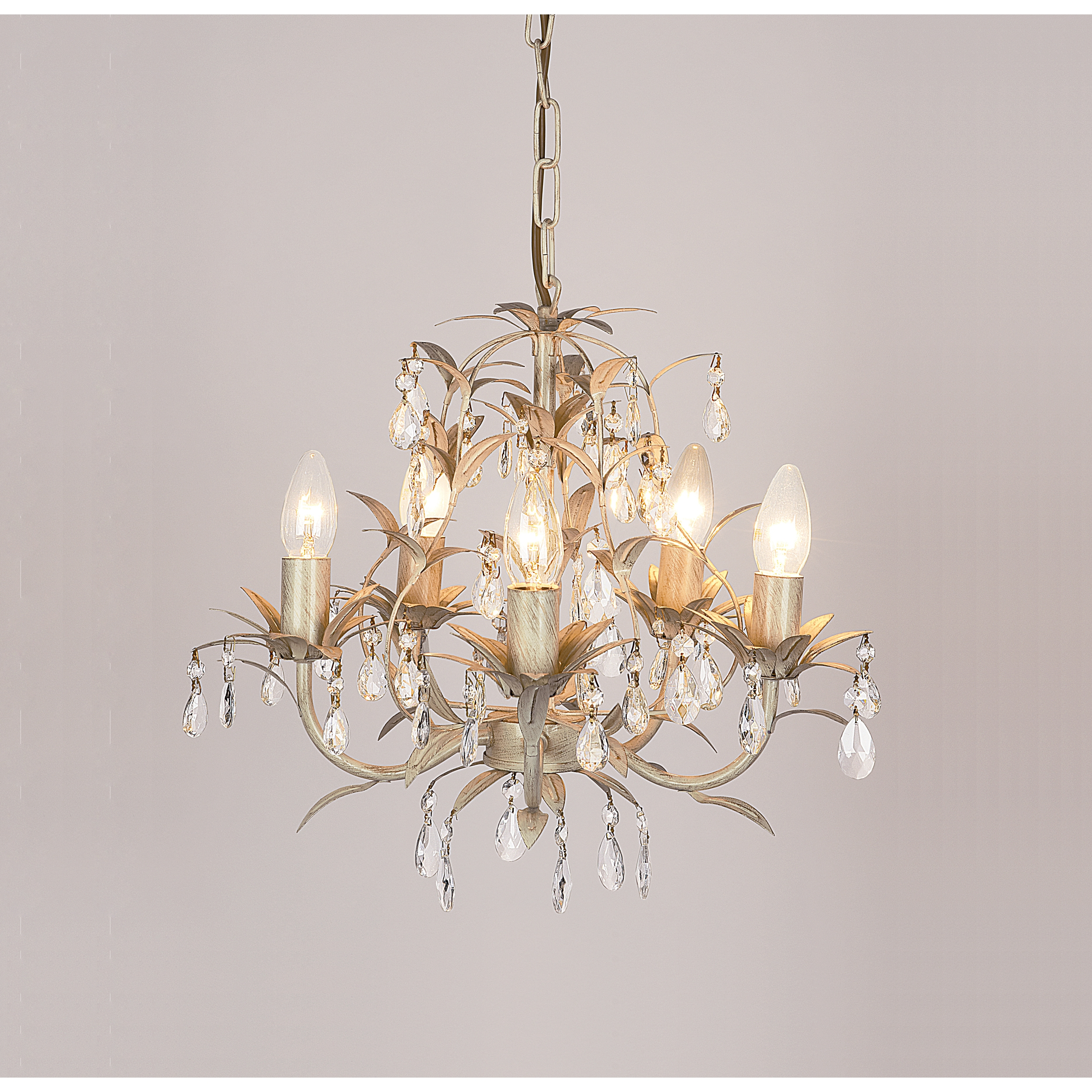 Chella Cream 5 Light Chandelier At Laura Ashley Intended For Cream Chandelier Lights (#5 of 12)