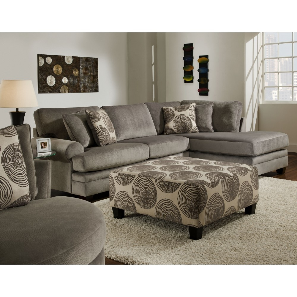 Chelsea Rayna Sectional In Groovy Smokebig Swirl Smoke Furn For Champion Sectional Sofa (#4 of 12)
