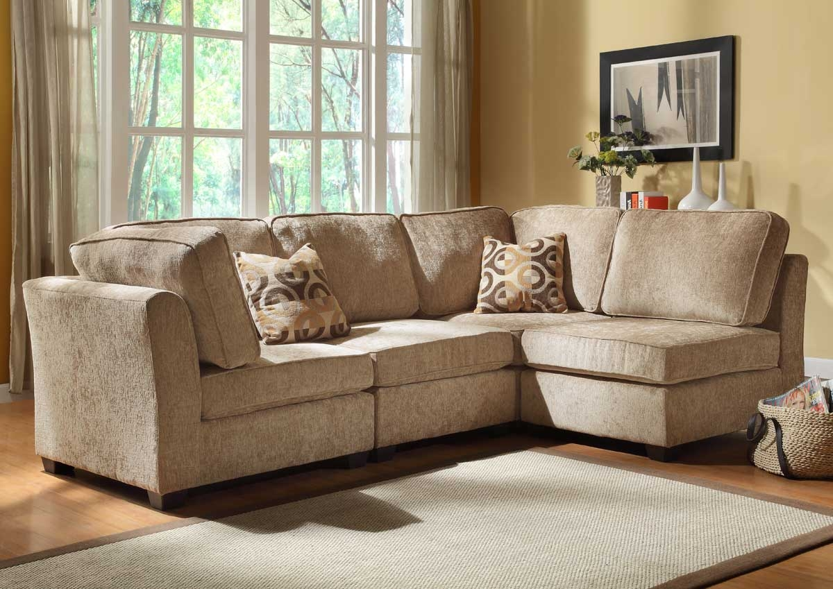 Chenille And Leather Sectional Sofa Hereo Sofa Inside Chenille And Leather Sectional Sofa (#3 of 12)