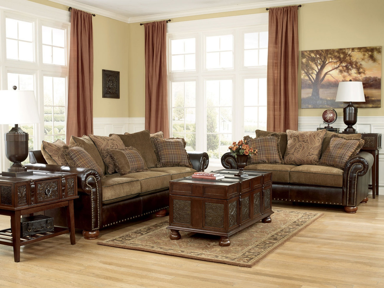 Chenille And Leather Sectional Sofa Hereo Sofa Intended For Chenille And Leather Sectional Sofa (#4 of 12)