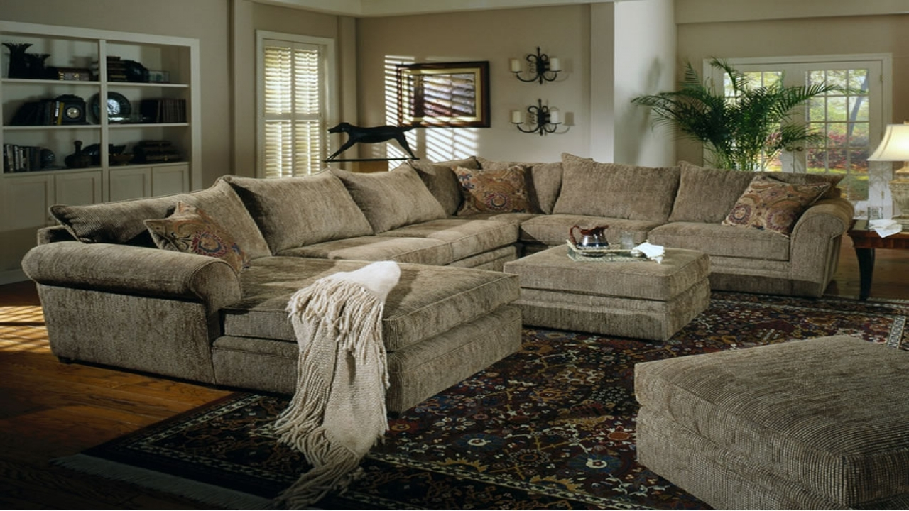 Chenille And Leather Sectional Sofa Hereo Sofa Regarding Chenille Sectional Sofas (#1 of 12)