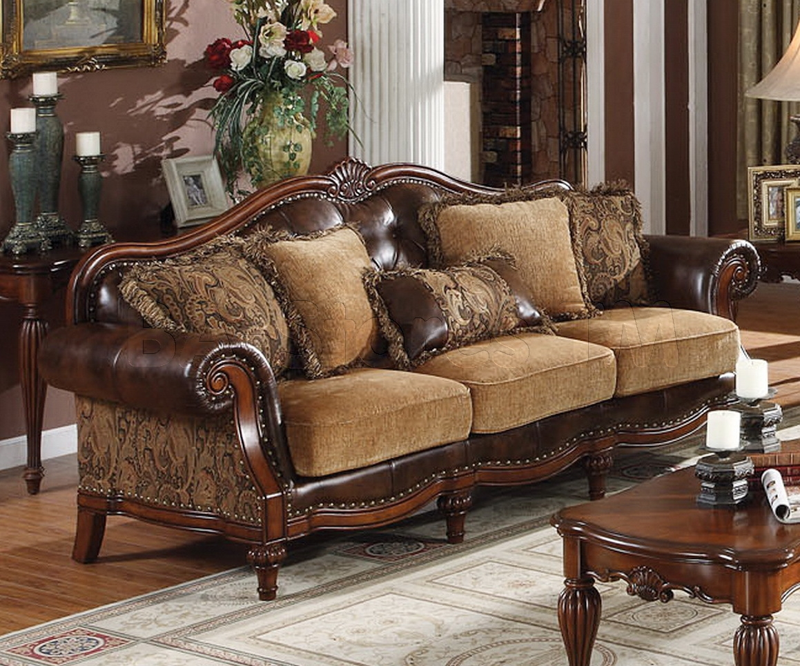 Chenille And Leather Sofa Sofa Menzilperde Within Chenille And Leather Sectional Sofa (#7 of 12)