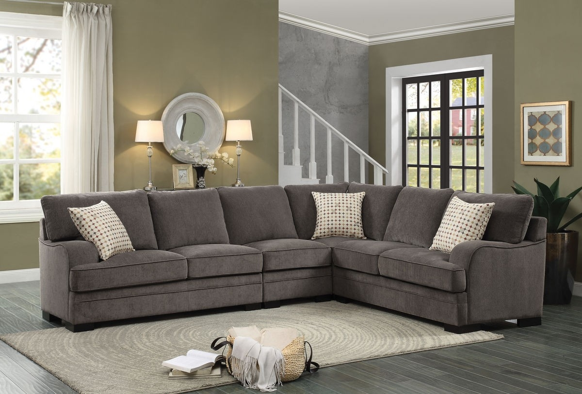 Chenille Sectional Sofa My Blog In Chenille And Leather Sectional Sofa (#9 of 12)