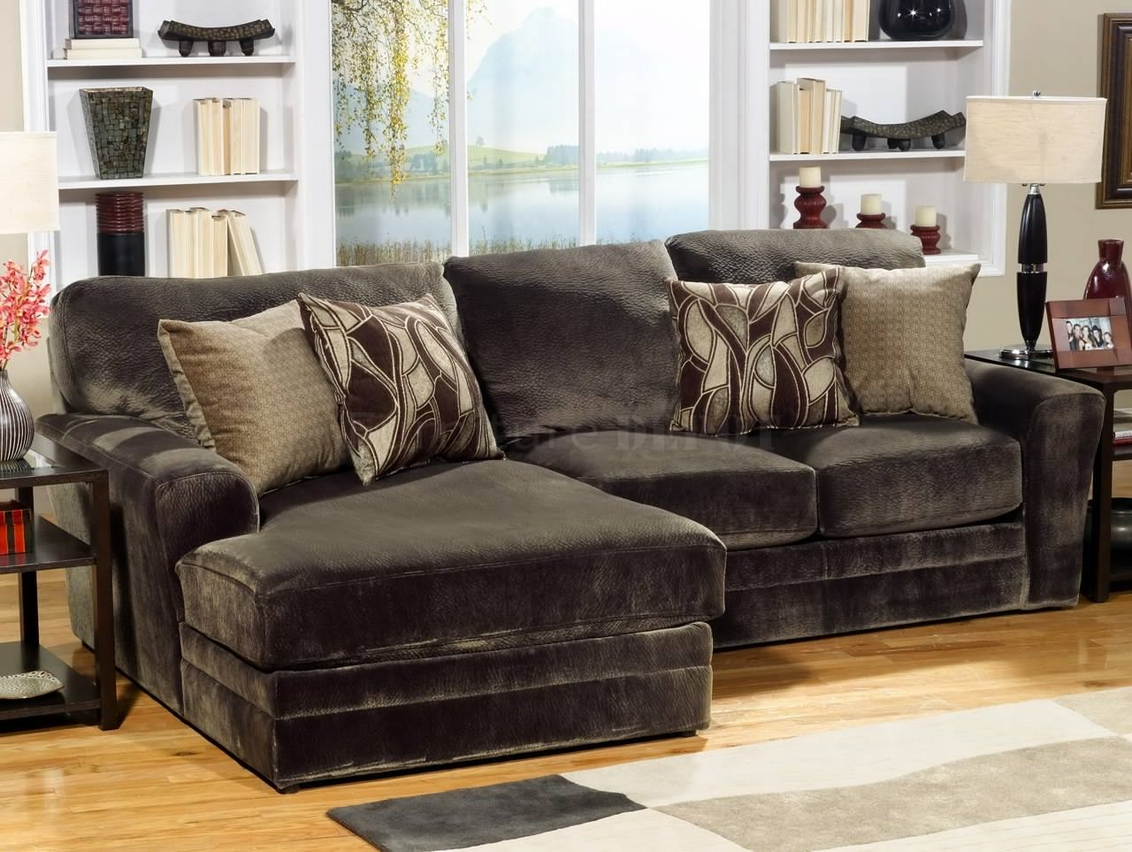 Chenille Sectional Sofas Cleanupflorida Regarding Chenille And Leather Sectional Sofa (#10 of 12)