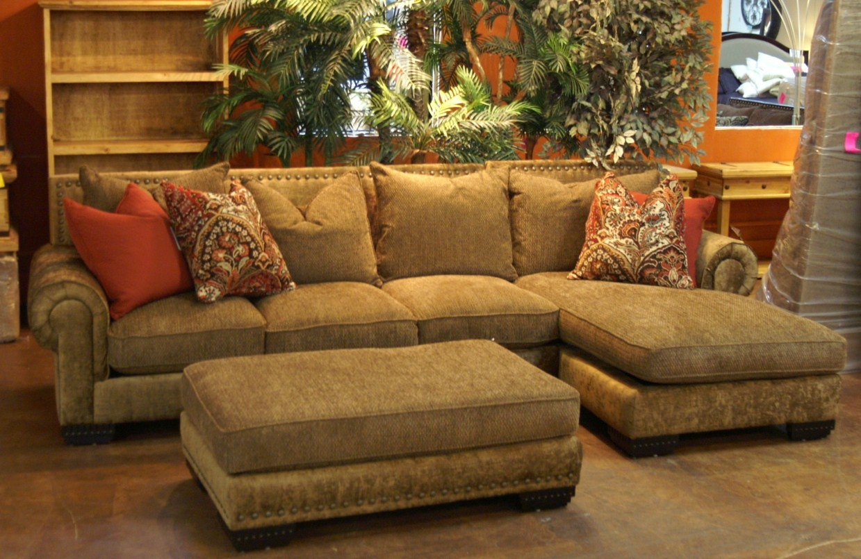 Inspiration About Chenille Sectional Sofas Cleanupflorida With Chenille And Leather  Sectional Sofa (#9 Of