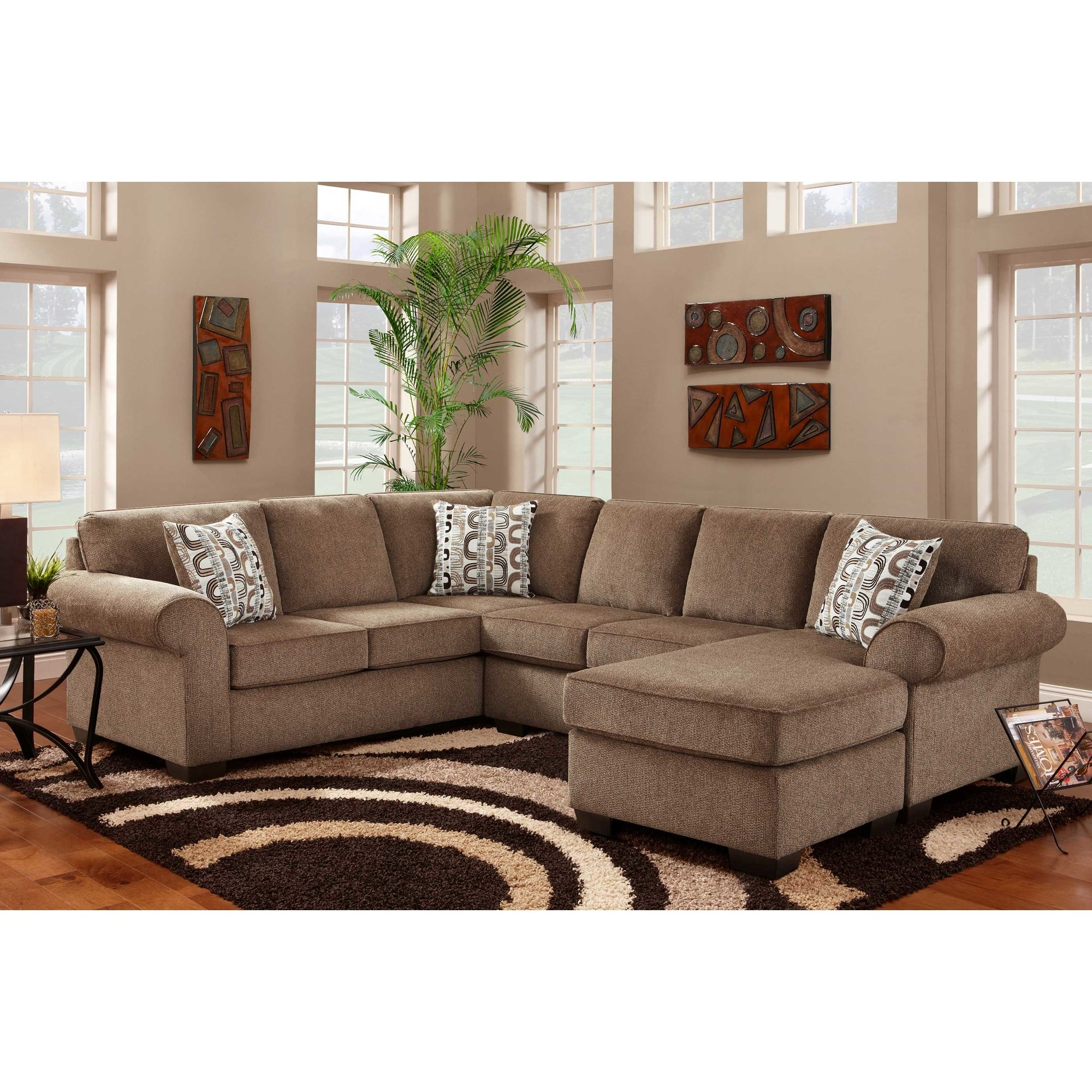12 Collection of Chenille Sectional Sofas