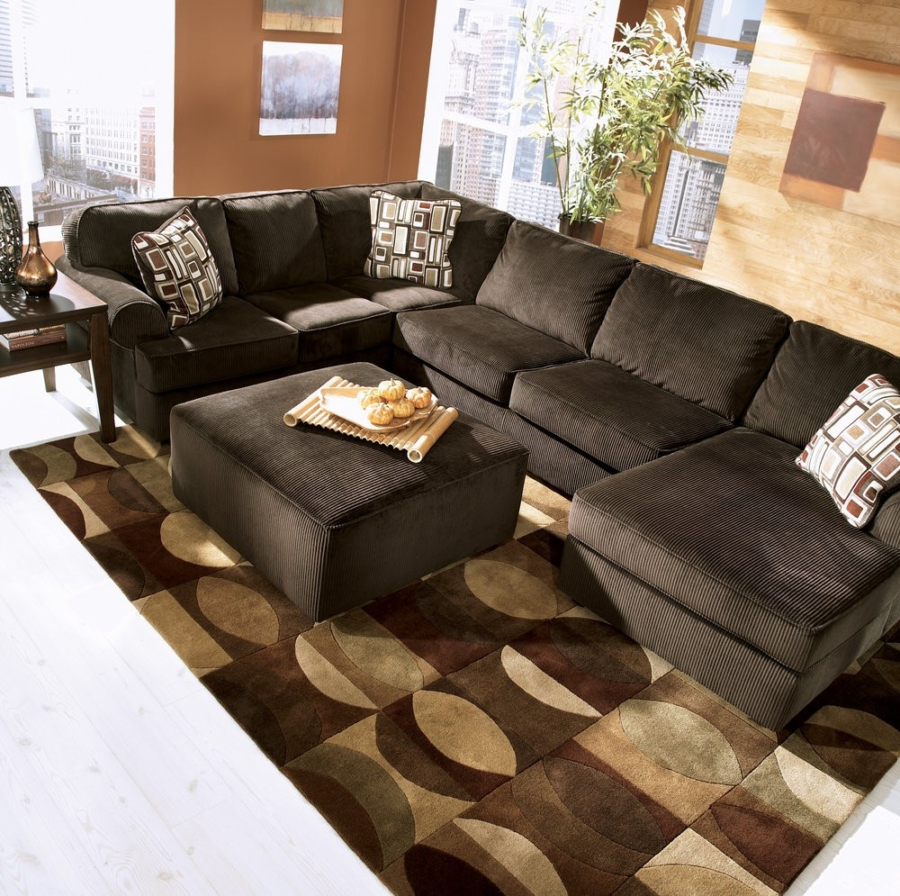 12 photo of chocolate brown sectional sofa for Brown sectional sofa with chaise