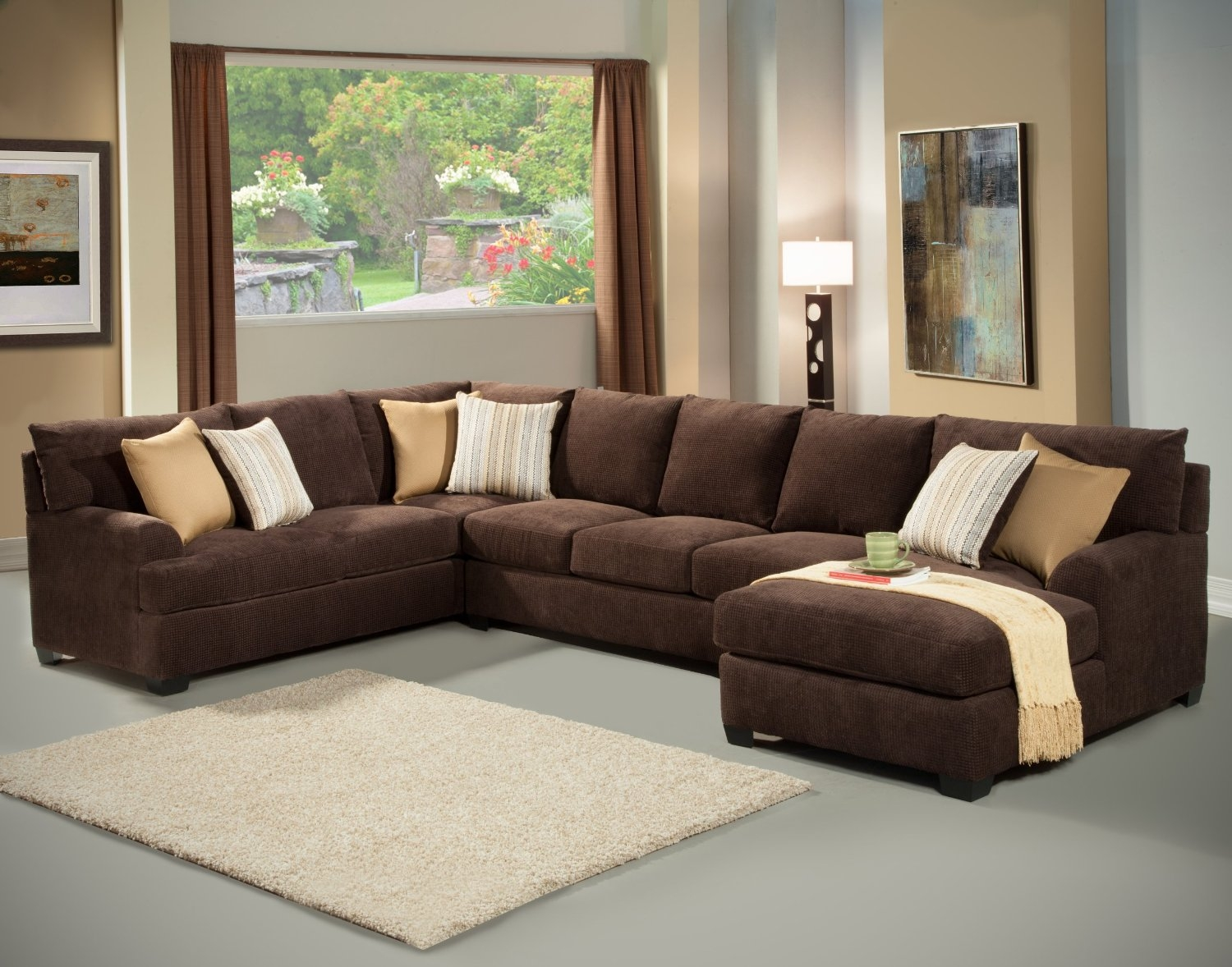 Chocolate Brown Sectional Sofa With Chaise Cleanupflorida With Regard To Chocolate Brown Sectional Sofa (#8 of 12)