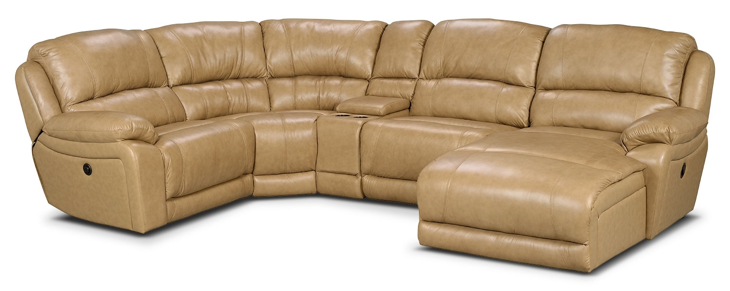 Cindy Crawford Leather SofaCindy Crawford Home Van Buren Burgundy 8 Pc  Leather Sectional