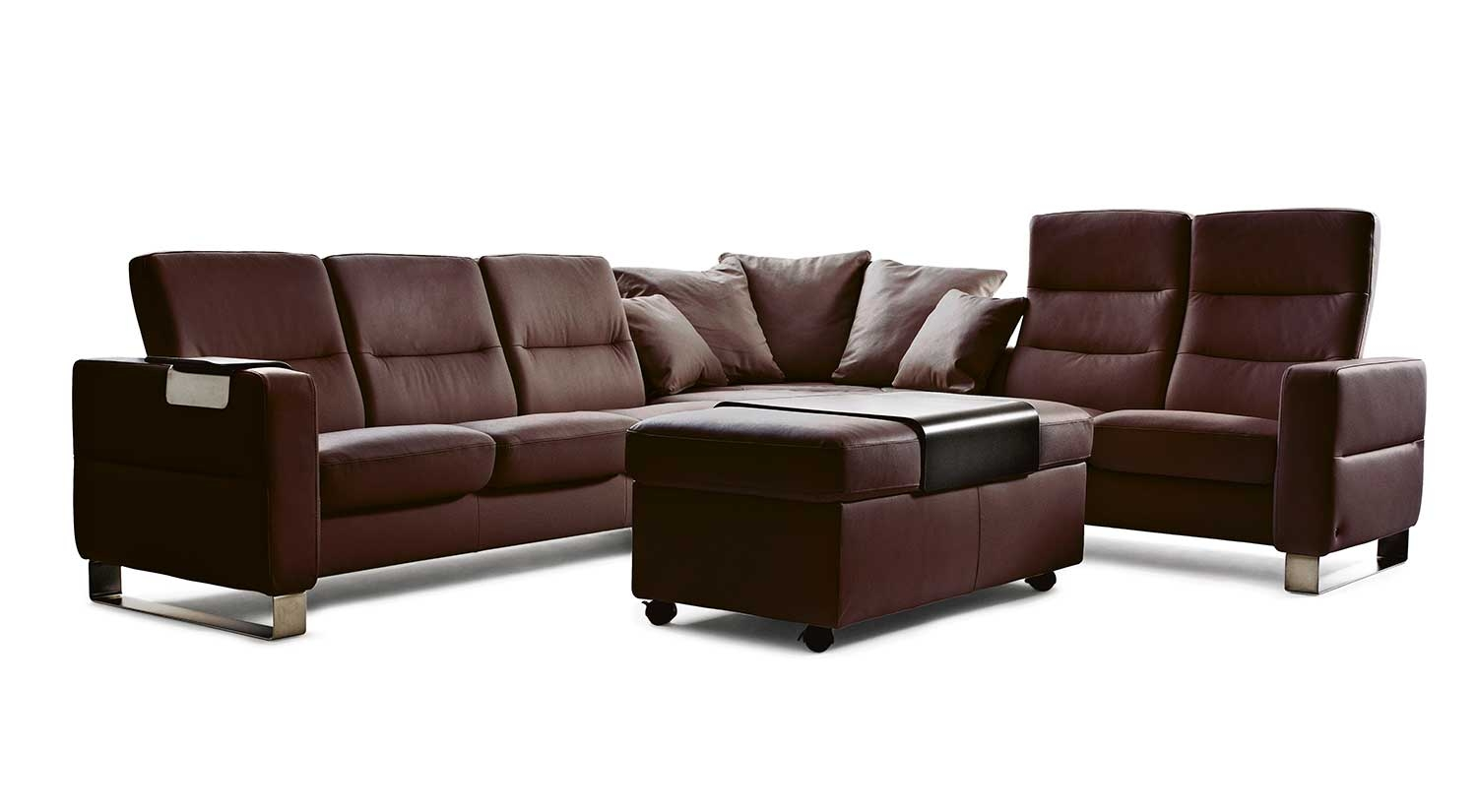 Circle Furniture Wave Stressless Sectional Ekornes Sofas Pertaining To Ekornes Sectional Sofa (#3 of 12)
