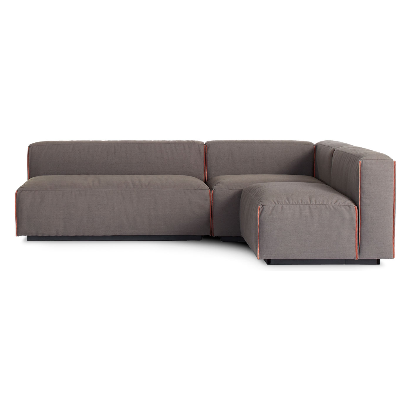 Cleon Medium Sectional Armless Sectional Blu Dot Intended For Armless Sectional Sofas (#8 of 12)