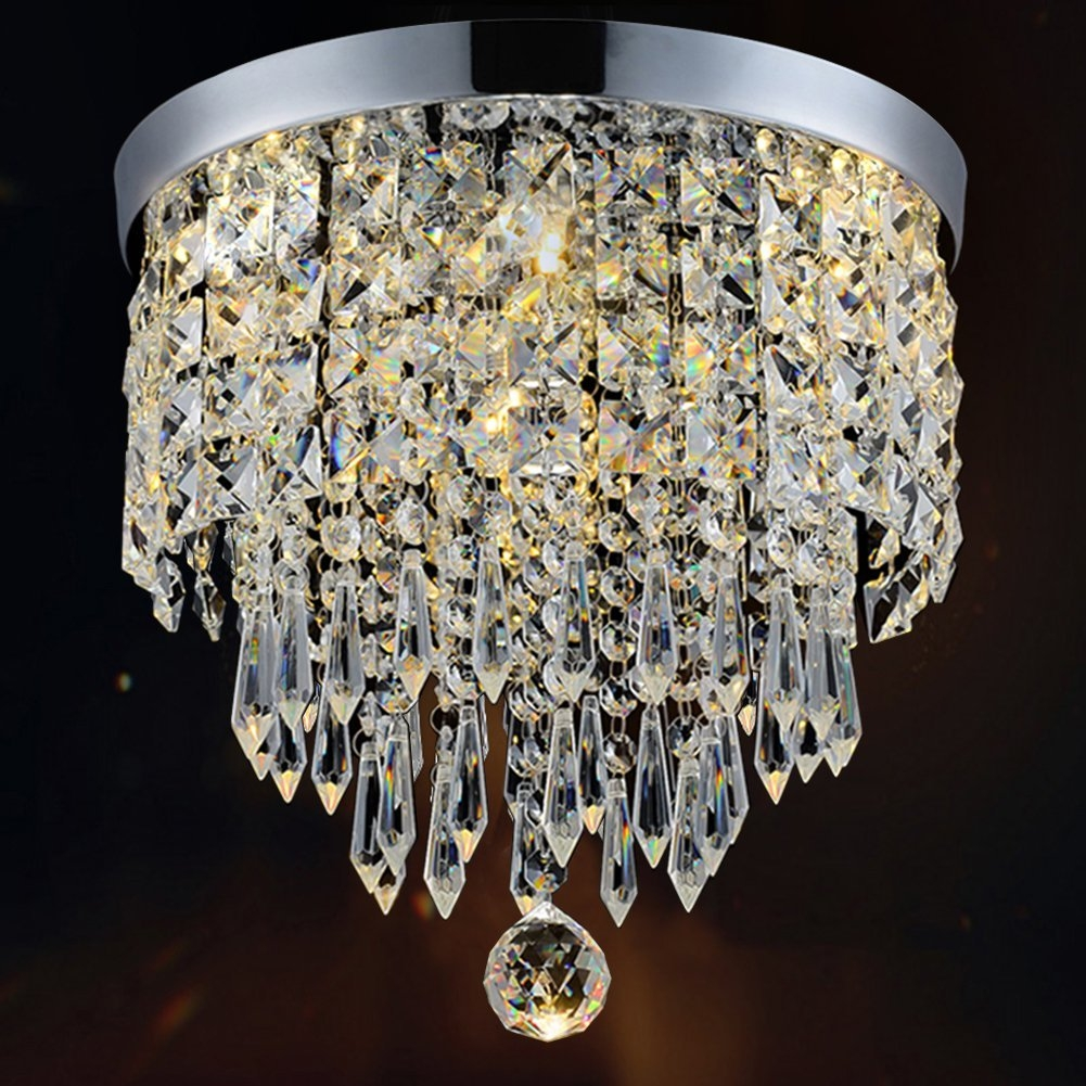 Close To Ceiling Light Fixtures Amazon Lighting Ceiling With Regard To Small Chandeliers For Low Ceilings (#7 of 12)
