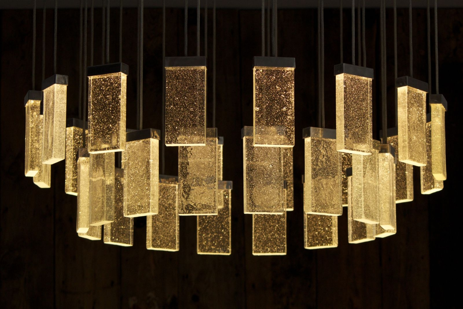 Contemporary Chandelier Glass Aluminum Led 32 Grand Cru For Contemporary Chandelier (#9 of 12)