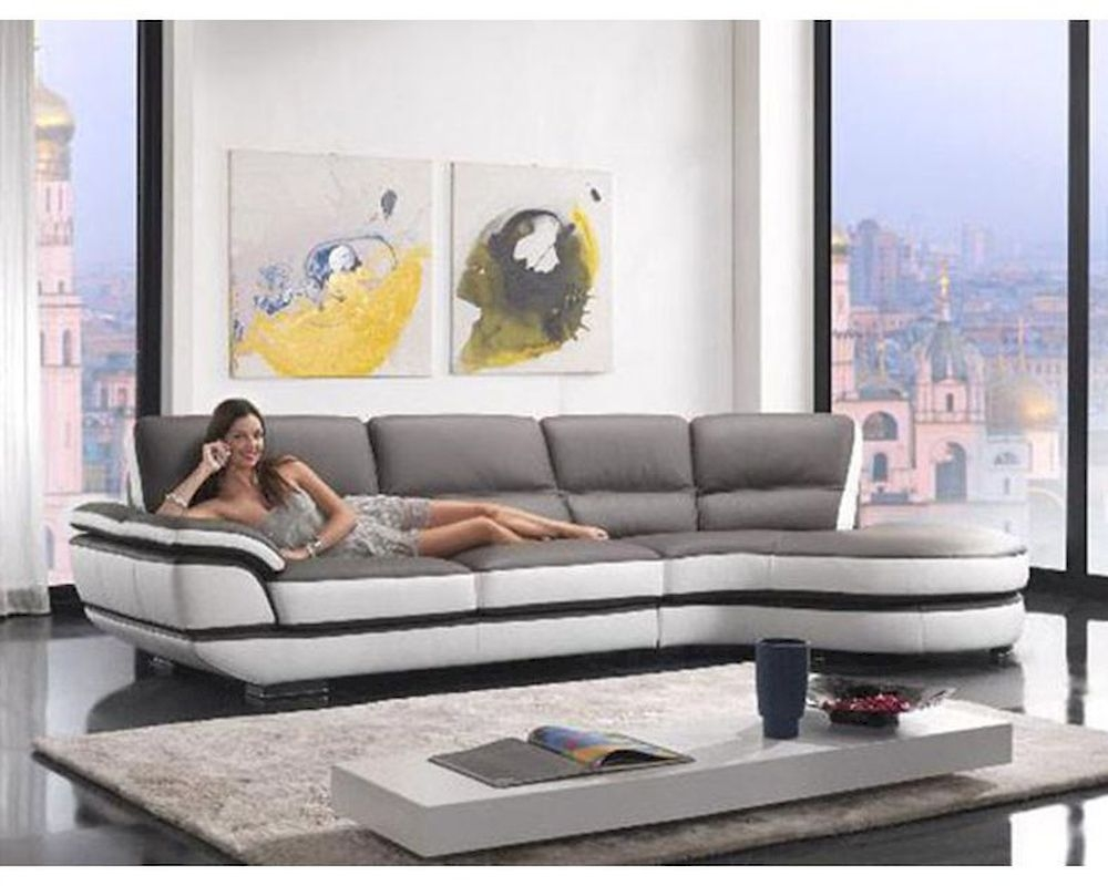 Contemporary European Style Eco Leather Sectional Sofa 44l6068 With European Style Sofas (#5 of 12)