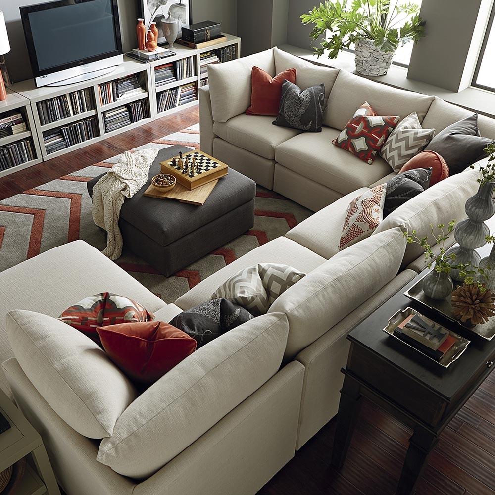Contemporary U Shaped Sectional Bassett Home Furnishings In Bassett Sectional Sofa (#4 of 12)