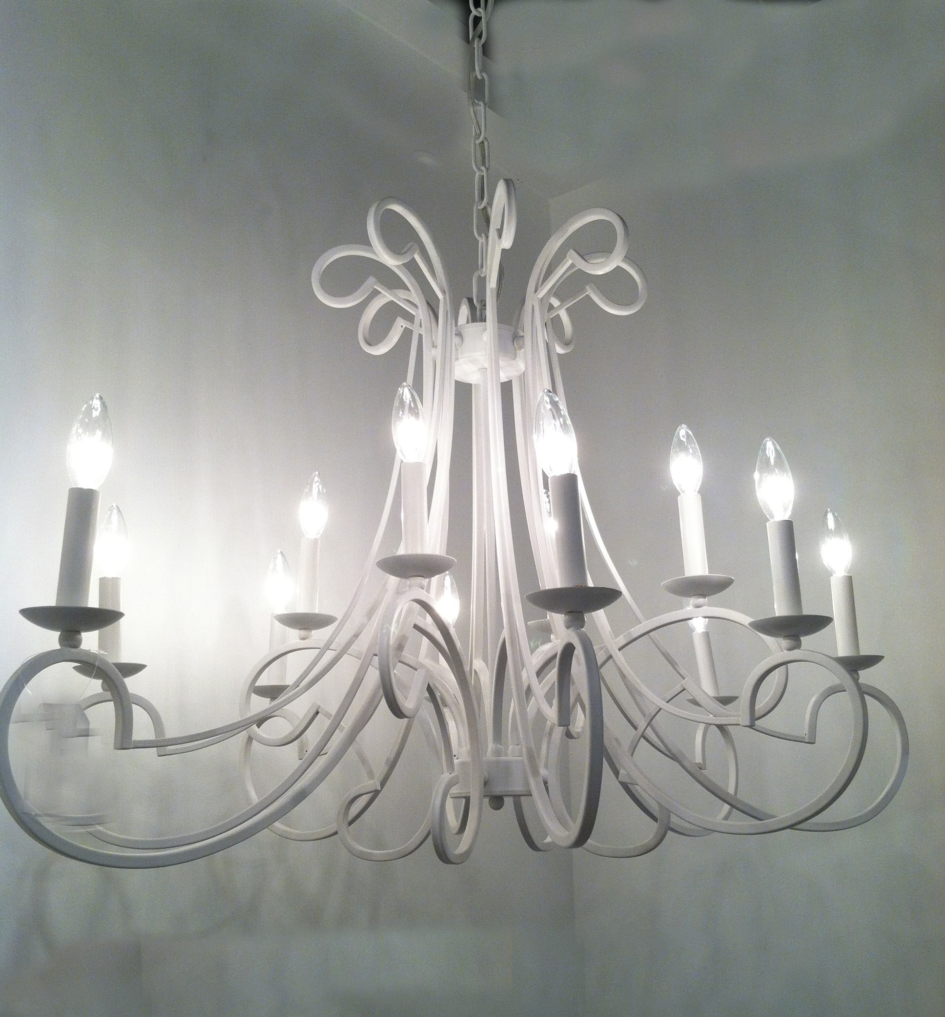 Cool Chandeliers Made In France Jose Esteves Silverware In White Chandeliers (#5 of 12)
