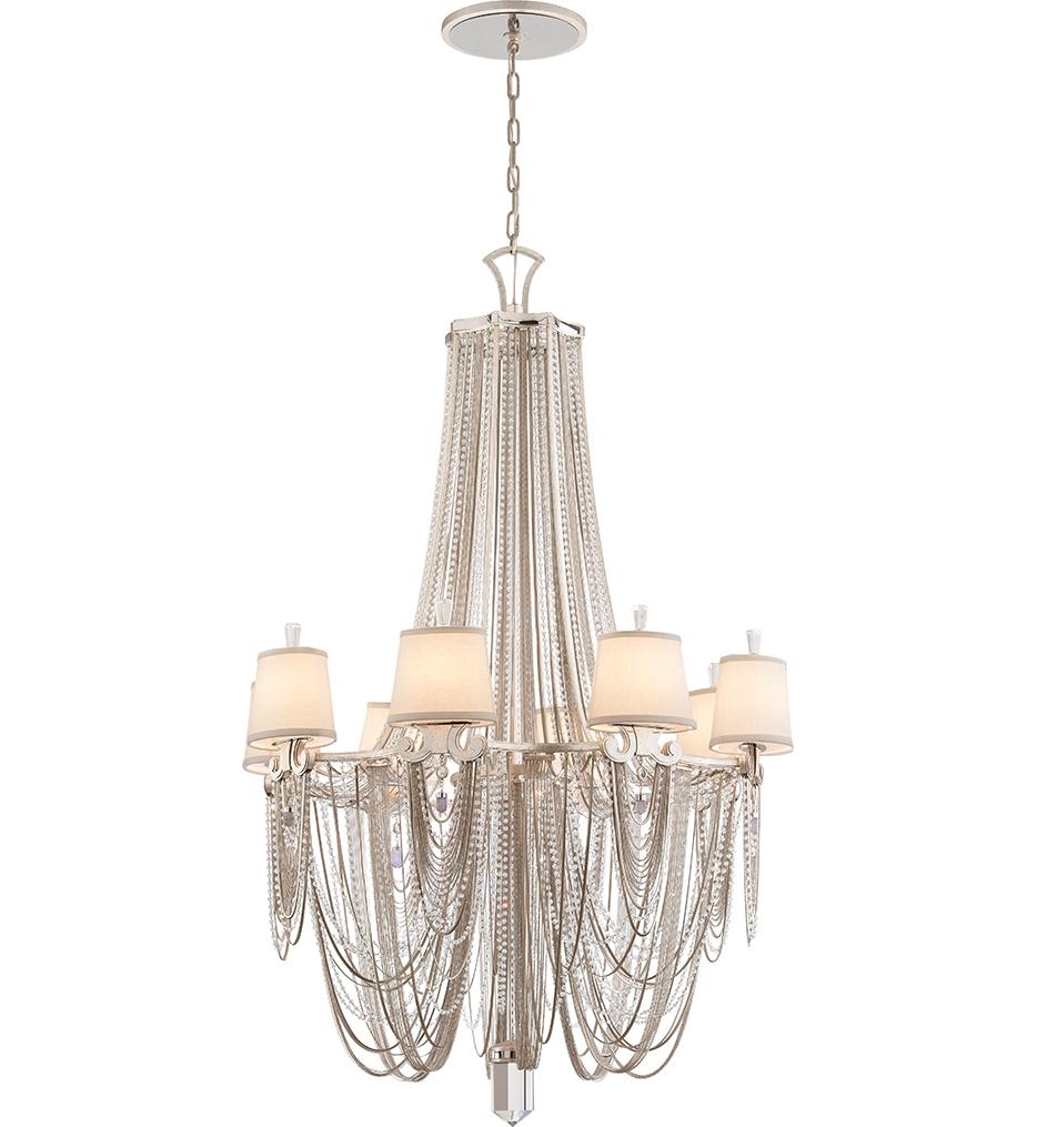 Corbett Lighting 157 08 Flirt 8 Light Modern Silver Chandelier Regarding Modern Silver Chandelier (#6 of 12)