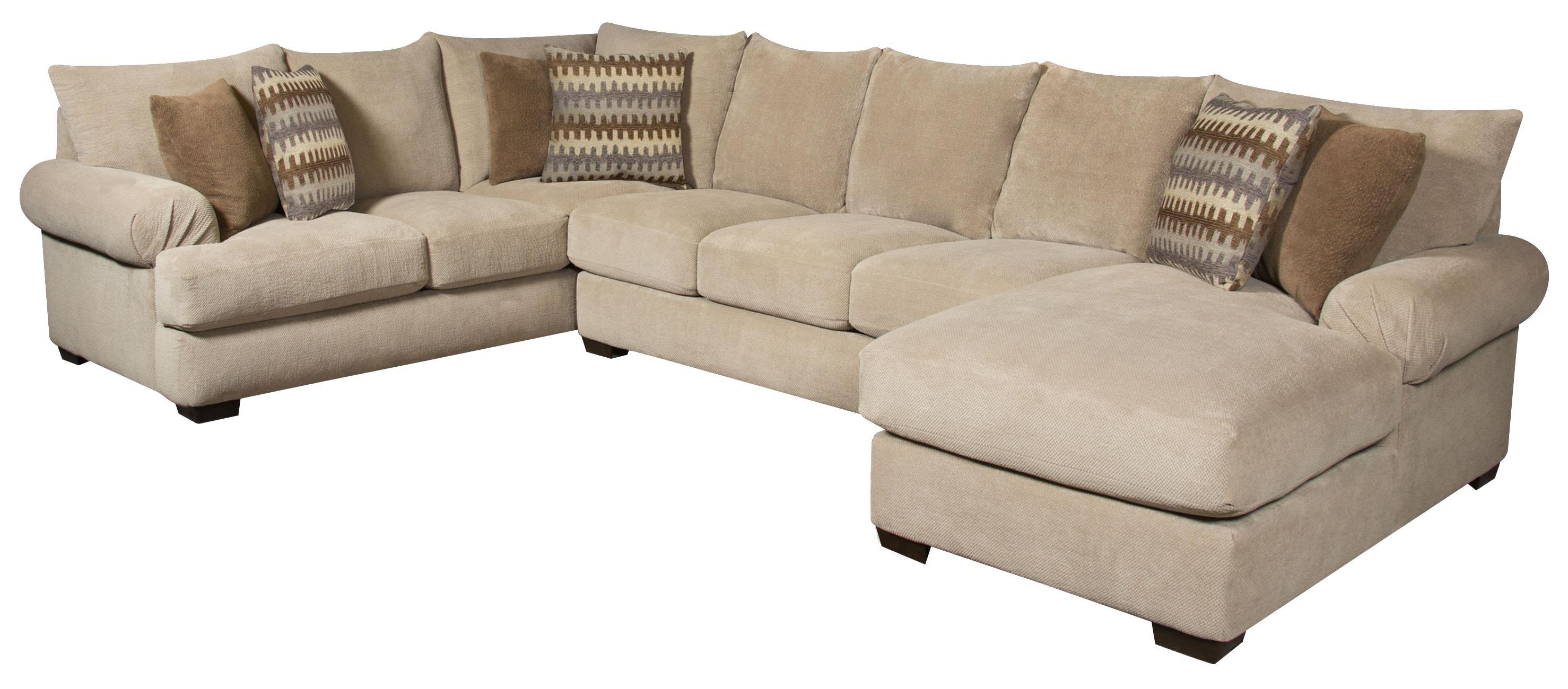 Corinthian Bacarat Taupe 3 Piece Sofa Sectional Great American For Corinthian Sectional Sofas (#3 of 12)