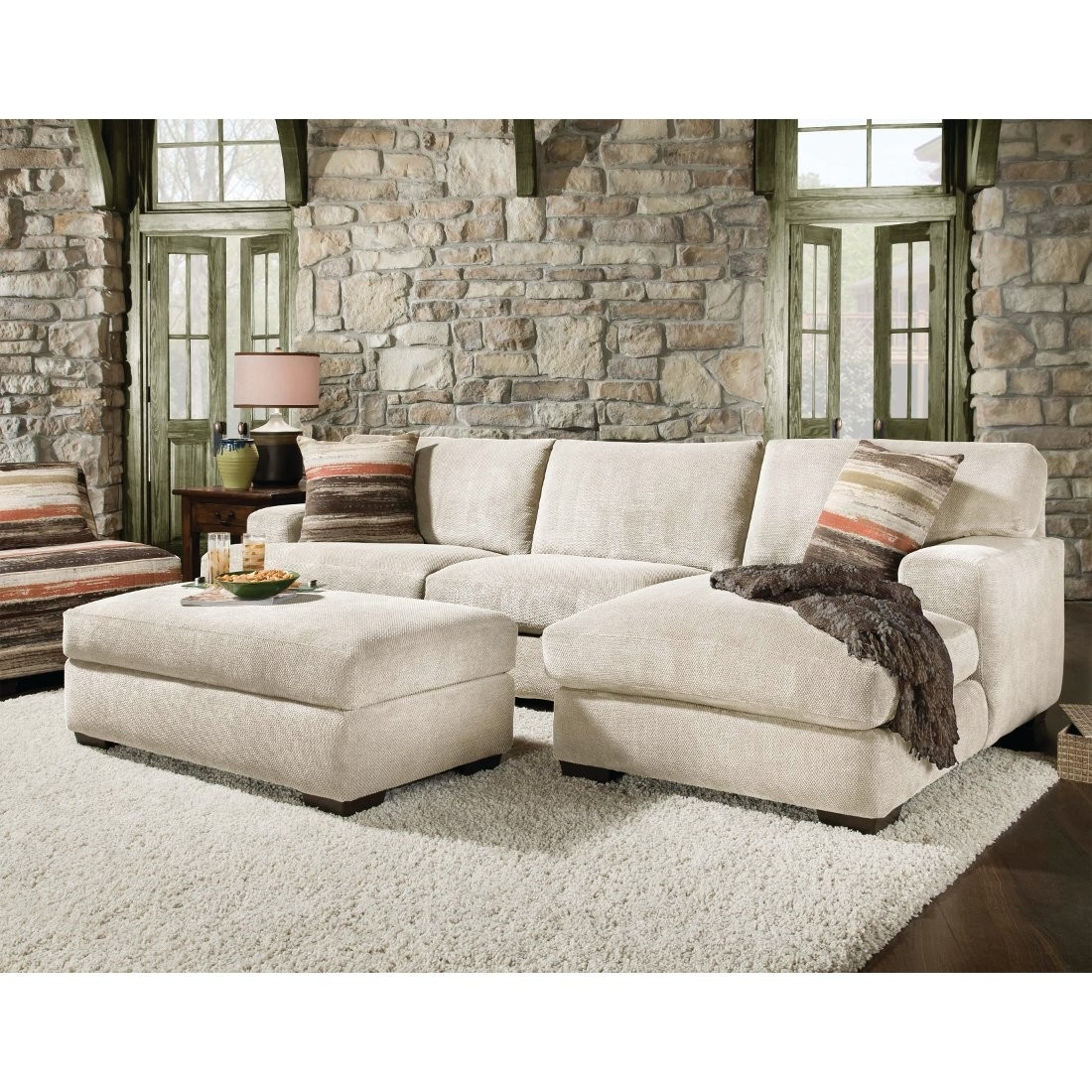 Corinthian Mead Sectional Sofa Piece Cream 48a3lf Conns Within Corinthian Sectional Sofas (#5 of 12)