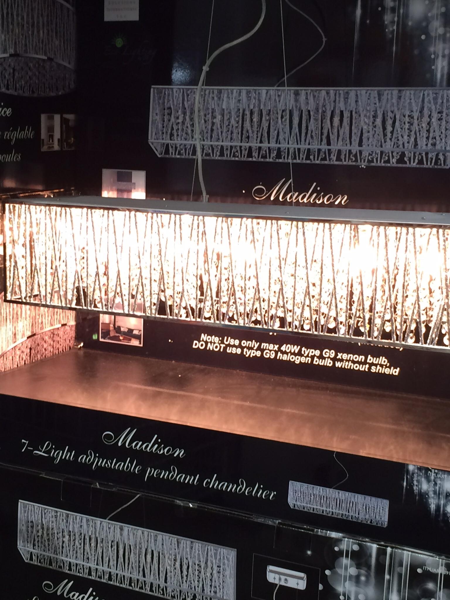 Costco Di Luce Rectangular 6 Light Crystal Chandelier Light Regarding Costco Chandeliers (#8 of 10)