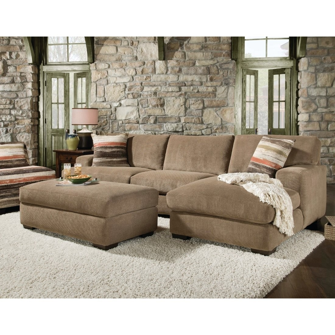 Cozy Sectional Sofa With Chaise And Ottoman 29 About Remodel Down In Down Filled Sectional Sofas  sc 1 st  Home Design Projects : down couch sectional - Sectionals, Sofas & Couches