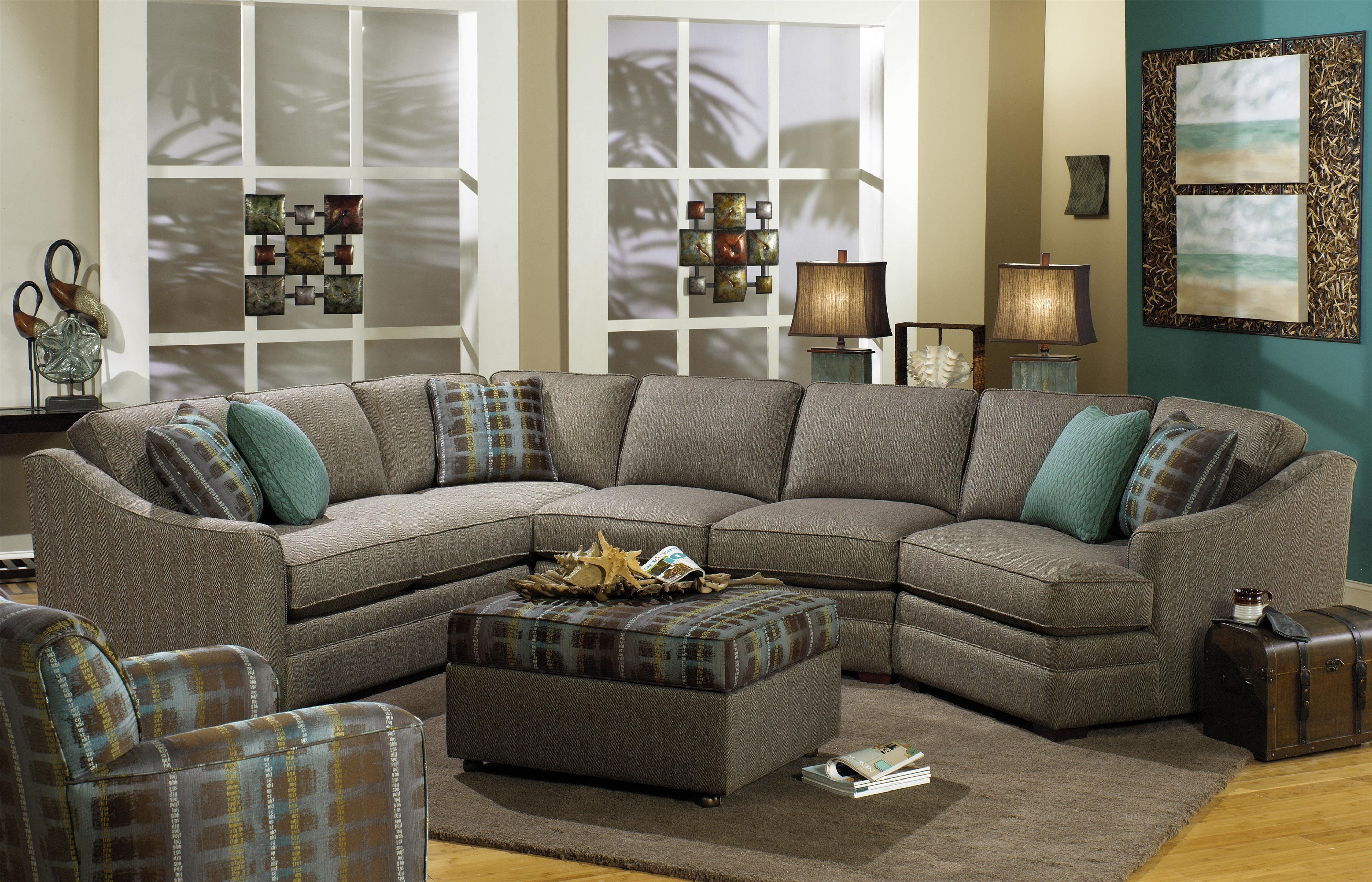 Craftmaster F9 Custom Collection Customizable 3 Piece Sectional With Cuddler Sectional Sofa (#5 of 12)