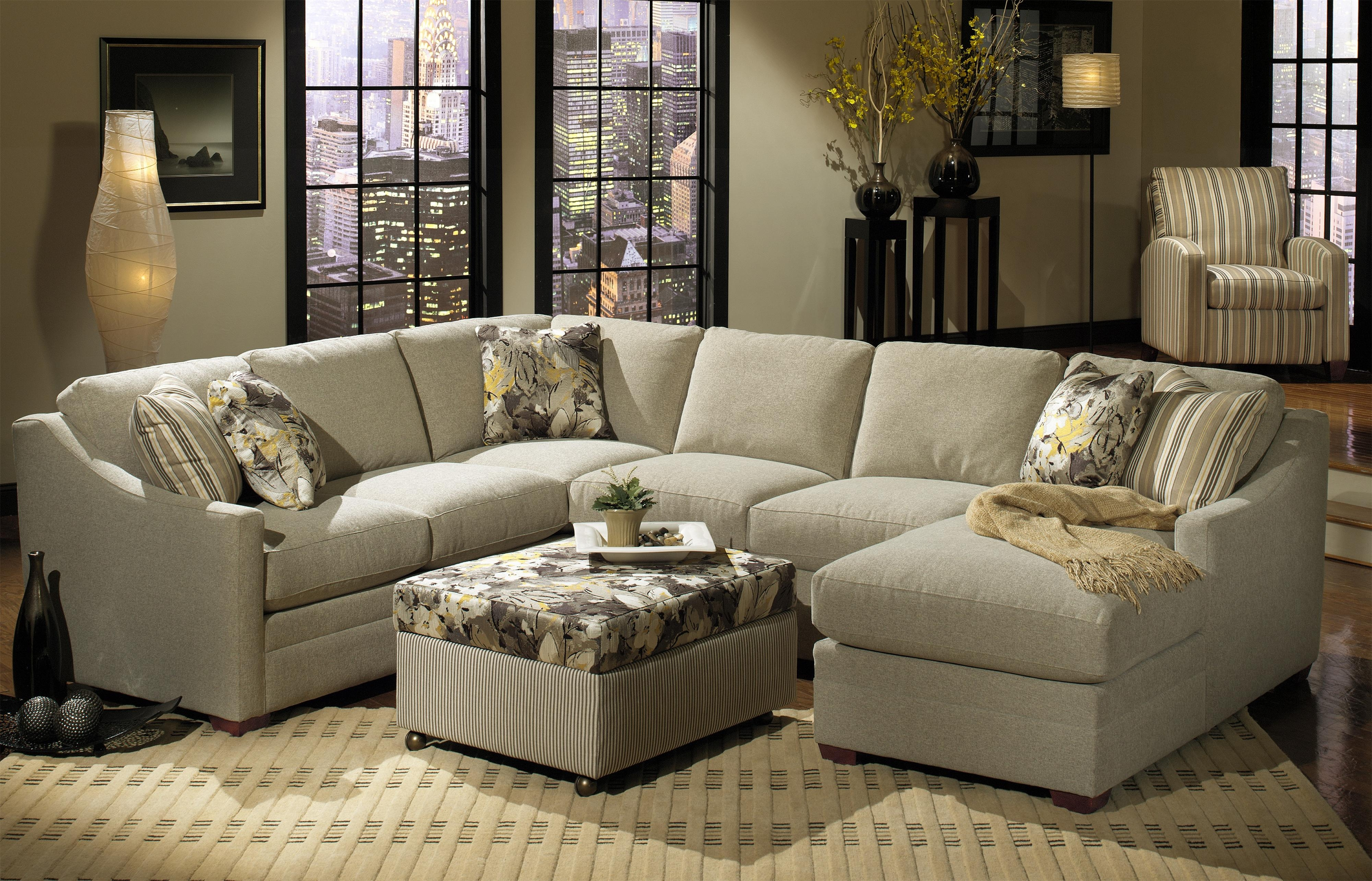 Craftmaster F9 Design Options Four Piece Bcustomizableb Within Craftmaster Sectional Sofa (#8 of 12)