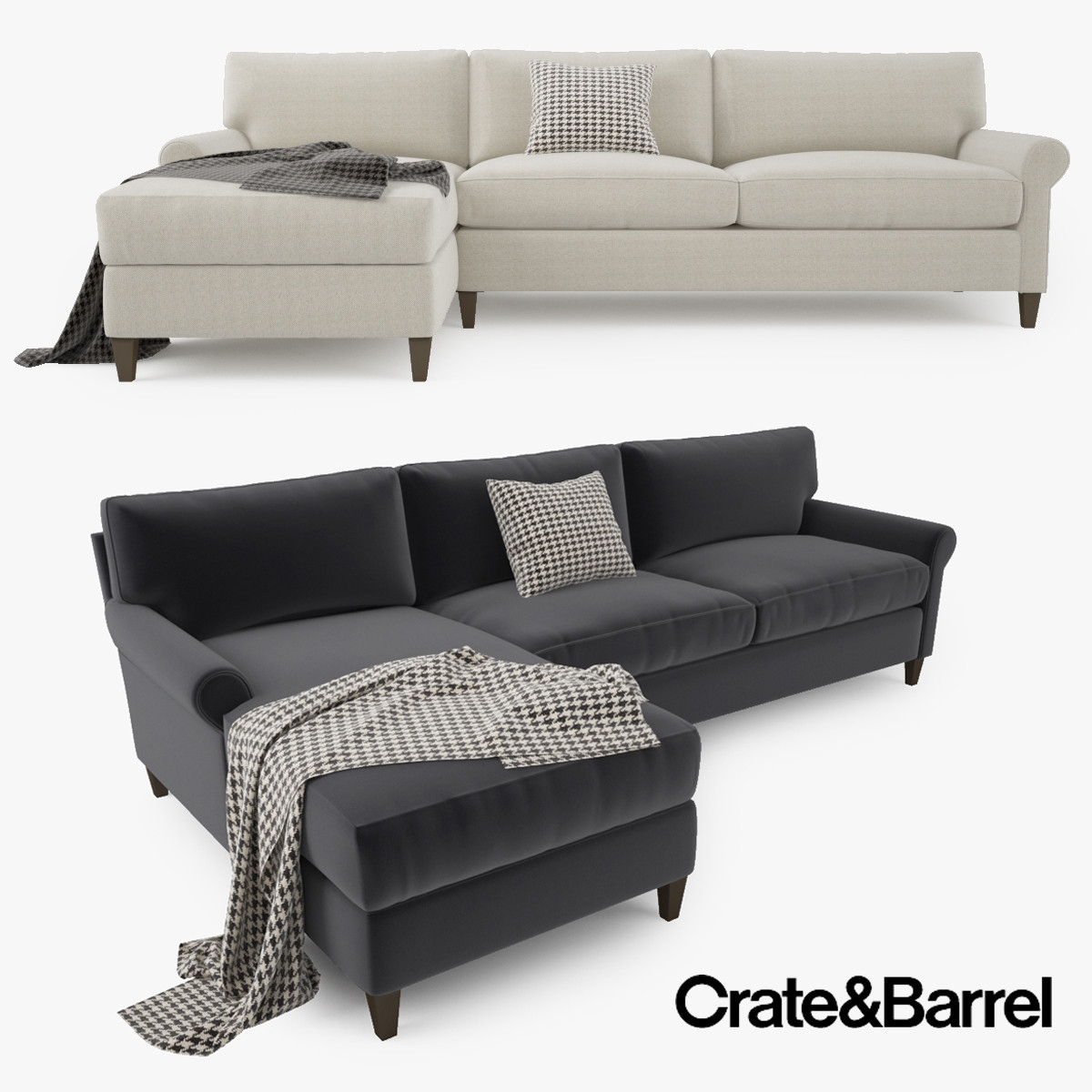 Inspiration about Crate Barrel Montclair 2 Model In Crate And Barrel Sectional Sofas (#4  sc 1 st  Home Design Projects : crate and barrell sectional - Sectionals, Sofas & Couches