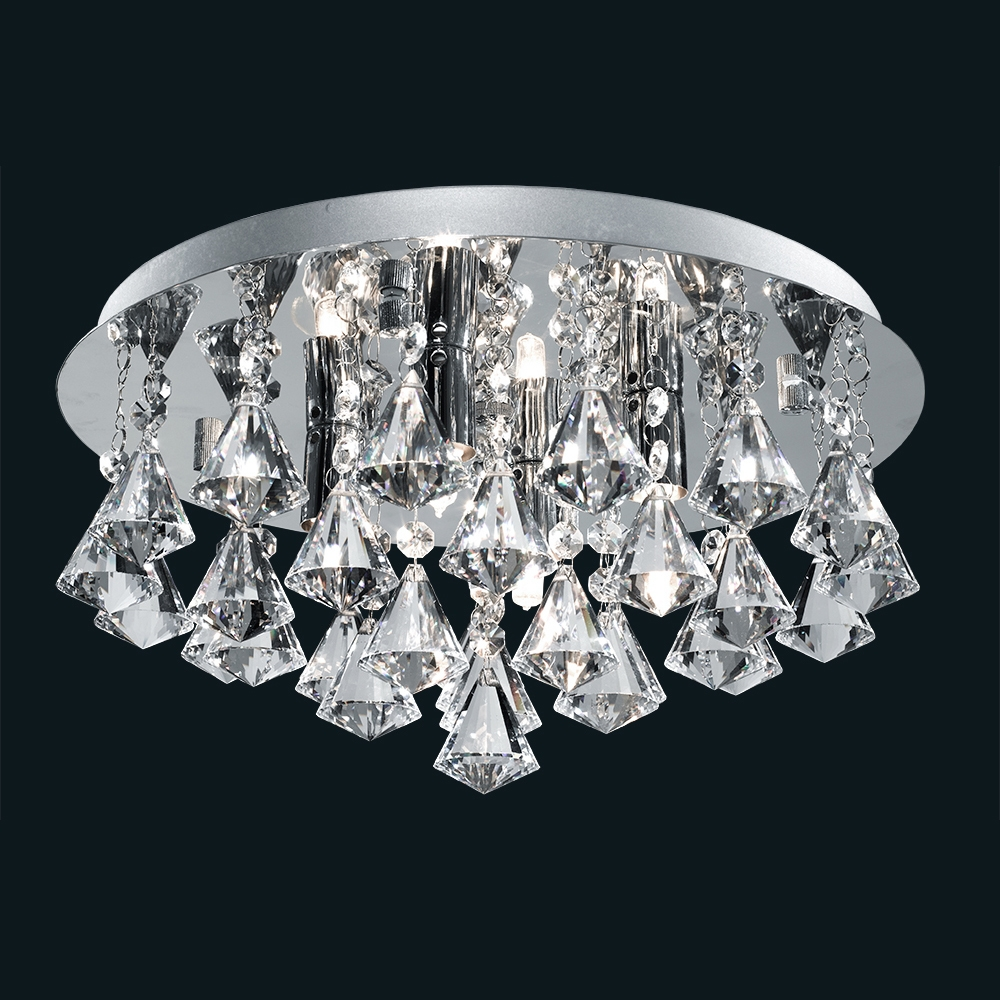 Crystal Light Fixtures Ceiling Alexsullivanfund Within Small Chandeliers For Low Ceilings (#8 of 12)