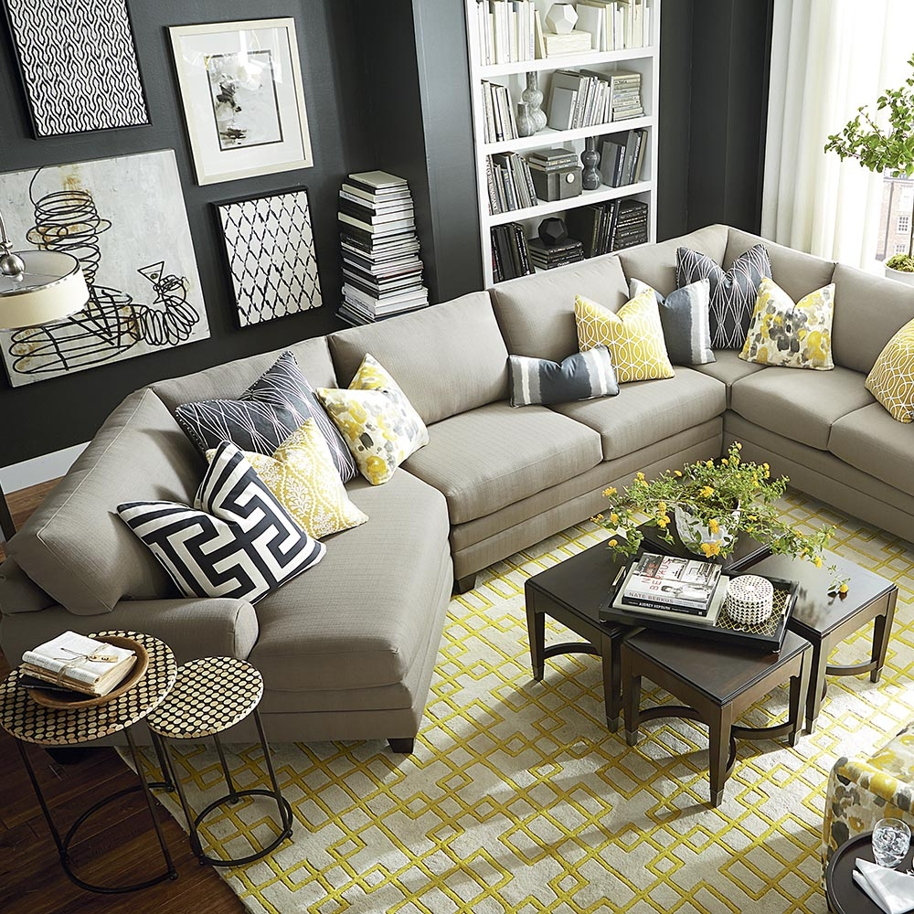 Cu2 Cuddler L Shaped Sectional Sectional Sofa With Regard To Bassett Sectional Sofa (#5 of 12)