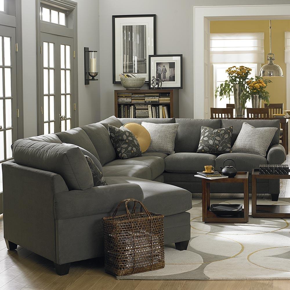 Cu2 Left Cuddler Sectional Sofa Bassett Home Furnishings For Cuddler Sectional Sofa (#8 of 12)