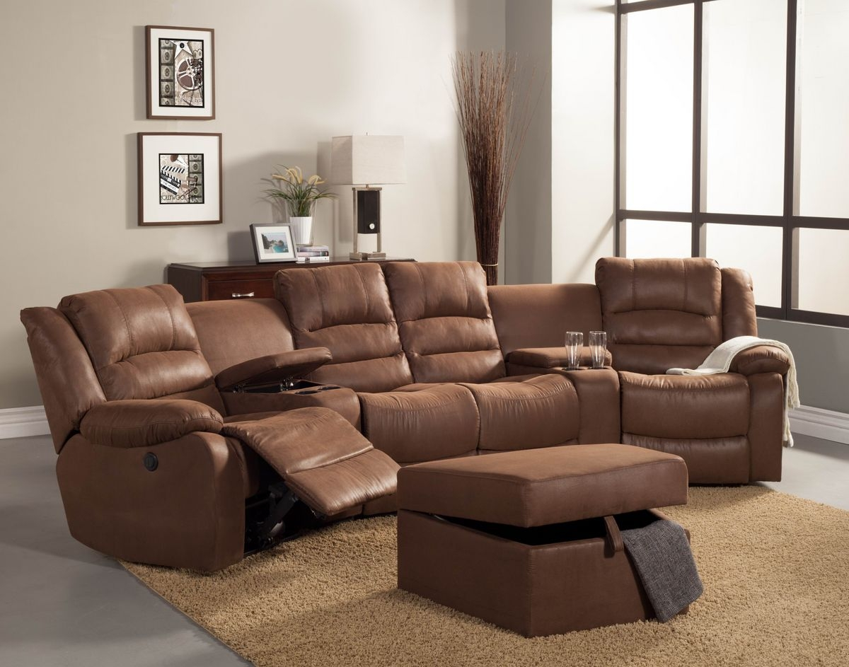 Sectional Sofas With 4 Recliners 12 Best Ideas Of Curved Recliner Sofa