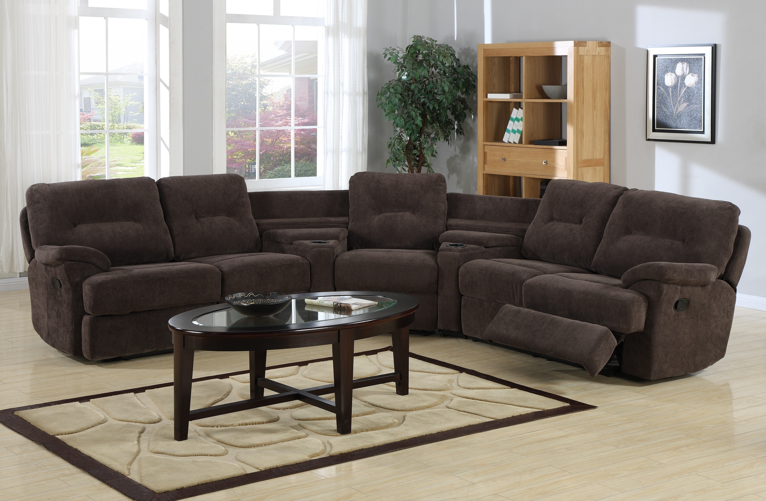 Popular Photo of Curved Sectional Sofa With Recliner
