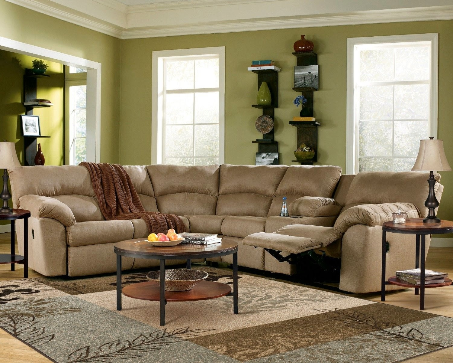 Curved Sofa Curved Reclining Sofa Regarding Curved Sectional Sofa With Recliner (#6 of 12)