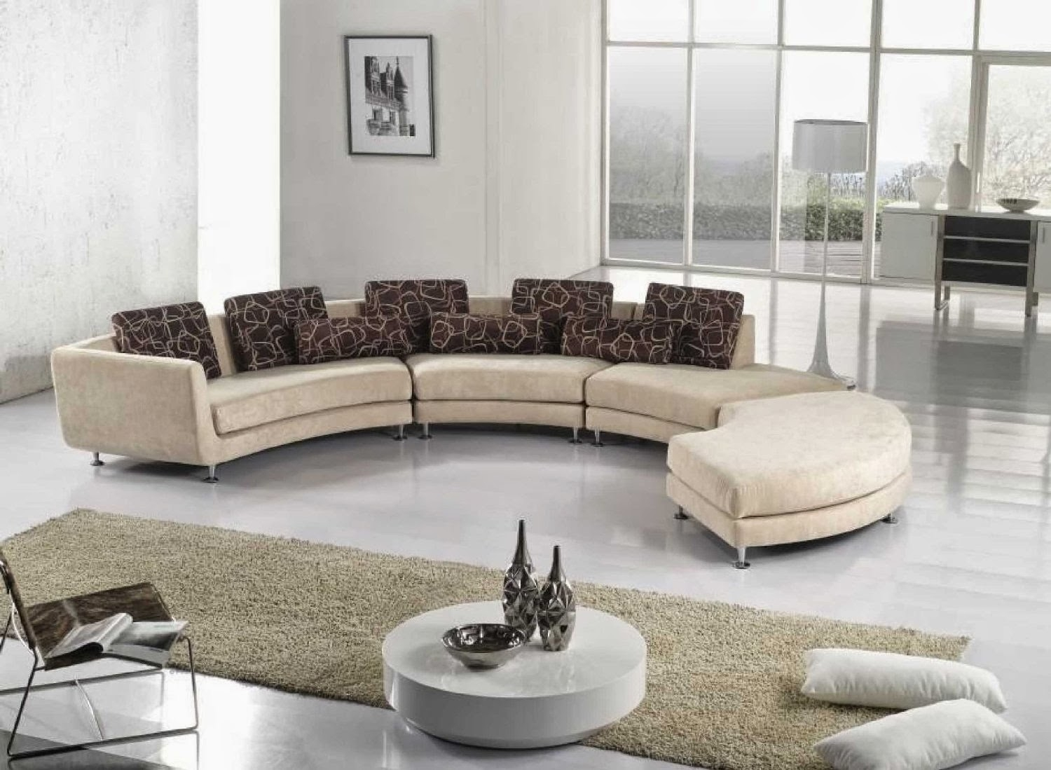 Curved Sofa Curved Sectional Sofa Intended For Contemporary Curved Sofas (#6 of 12)