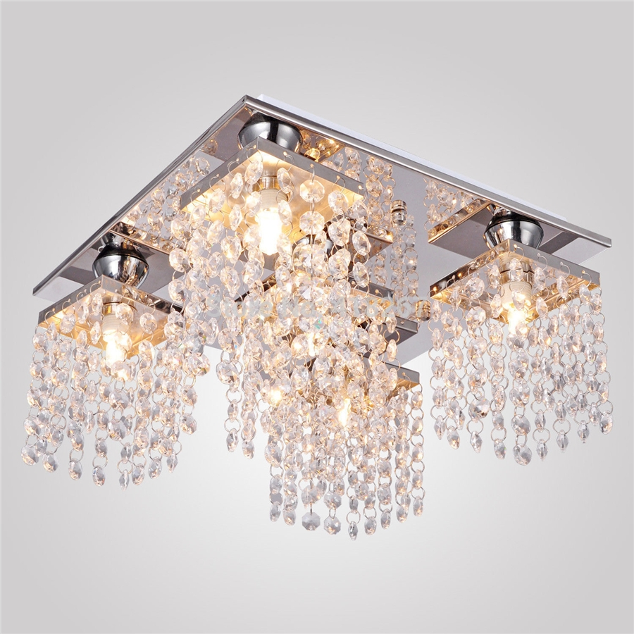 Decoration Ideas Great Semi Flush Mount Light Designed With Large With Chandelier For Low Ceiling (#7 of 12)
