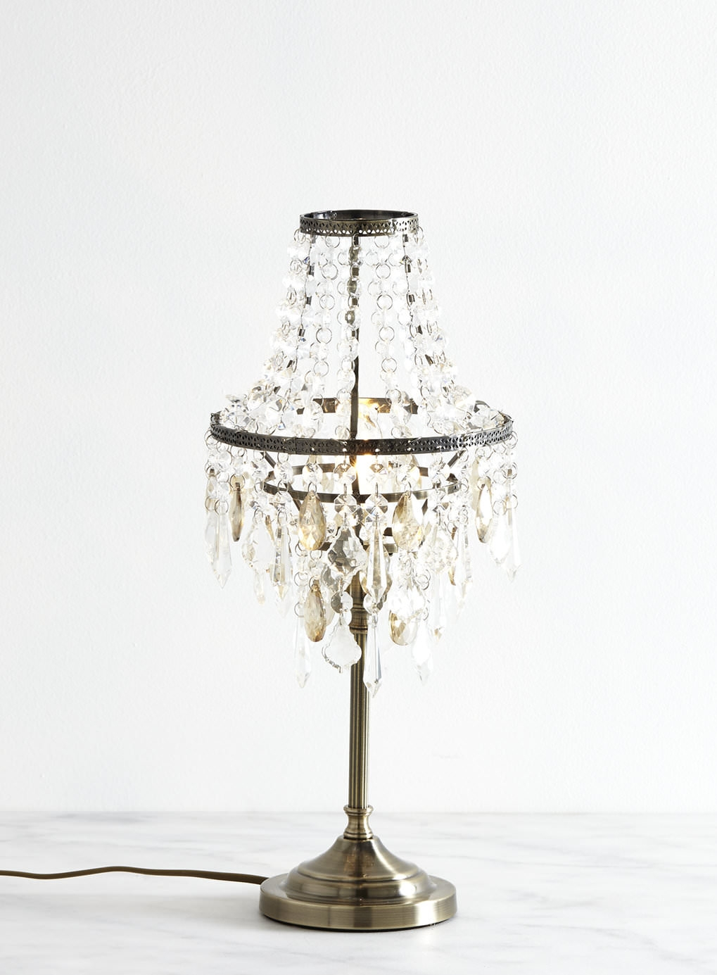Decorative Chandelier Table Lamp Lighting Fixtures All In One With Regard To Table Chandeliers (#10 of 12)