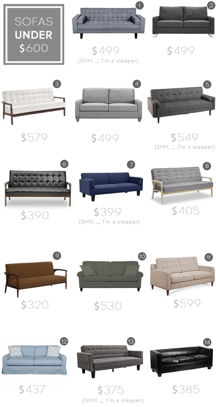 Design Mistake 1 The Generic Sofa Emily Henderson Pertaining To Affordable Tufted Sofa (#4 of 12)