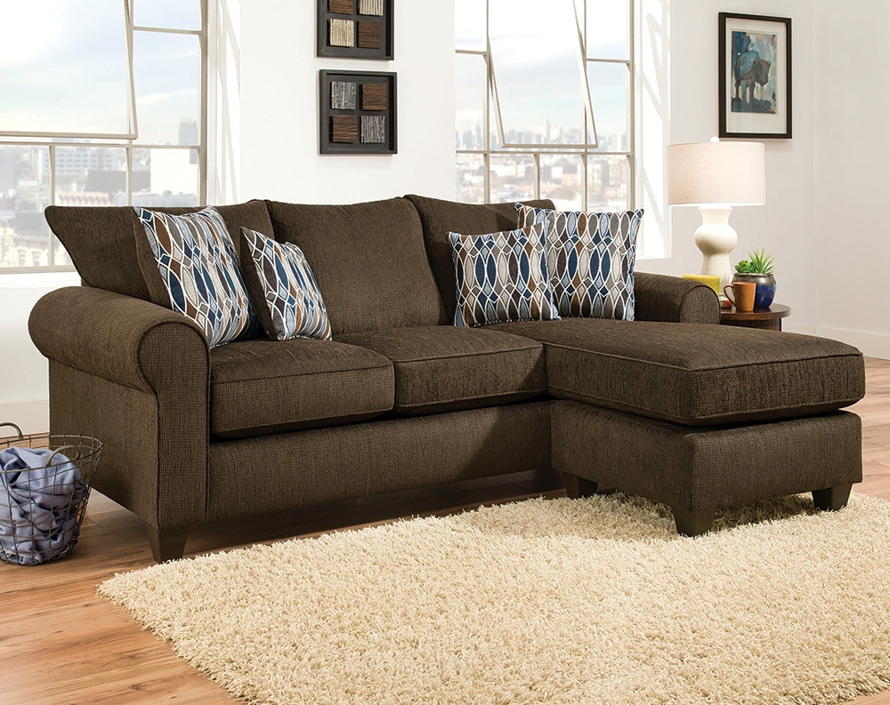 Discount Sectional Sofas Couches American Freight For Chocolate Brown Sectional Sofa (#10 of 12)
