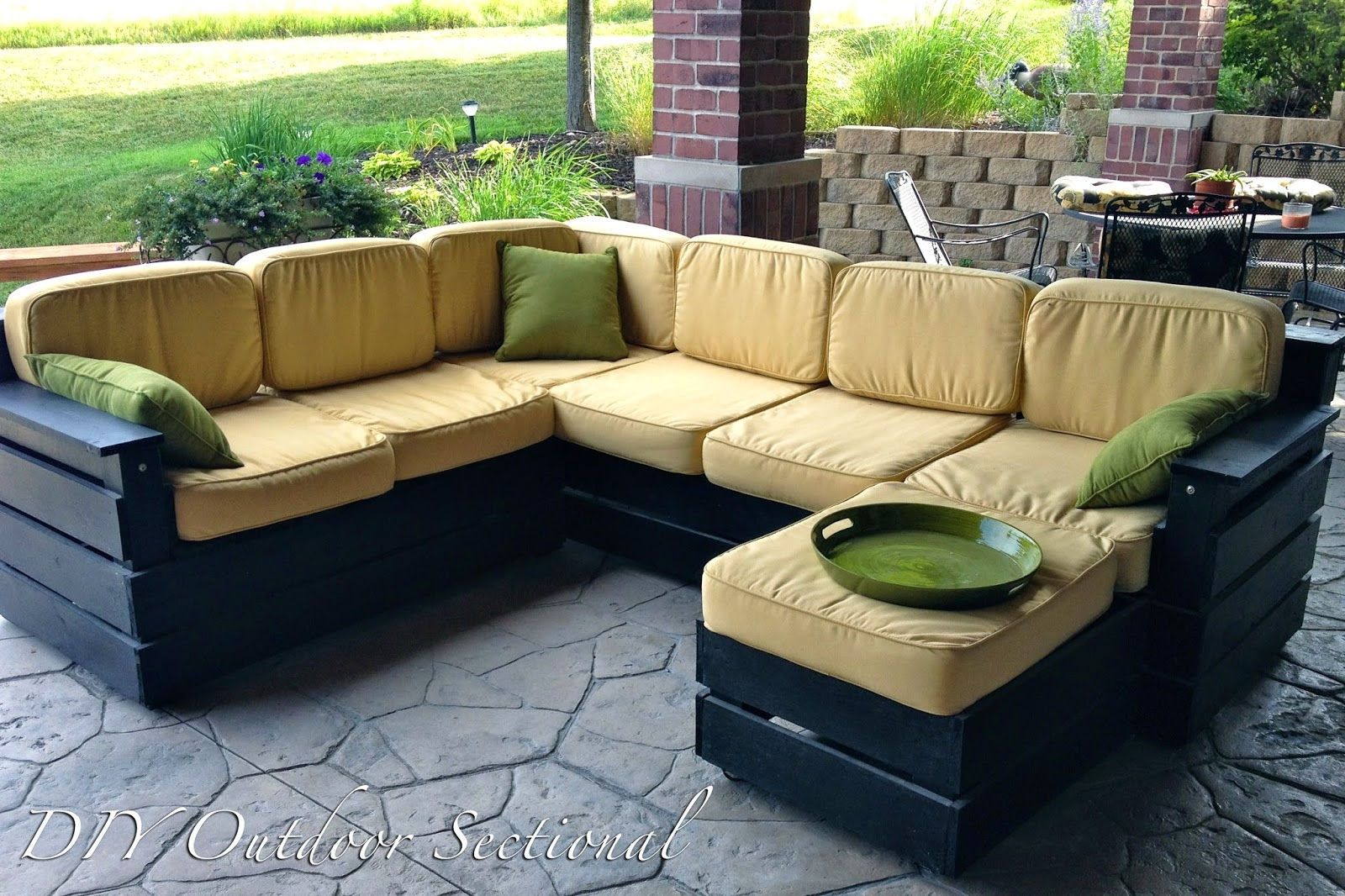 Diy Outdoor Sectional Build It Yourself Out Of Regular Wood From With Diy Sectional Sofa Plans (#7 of 12)