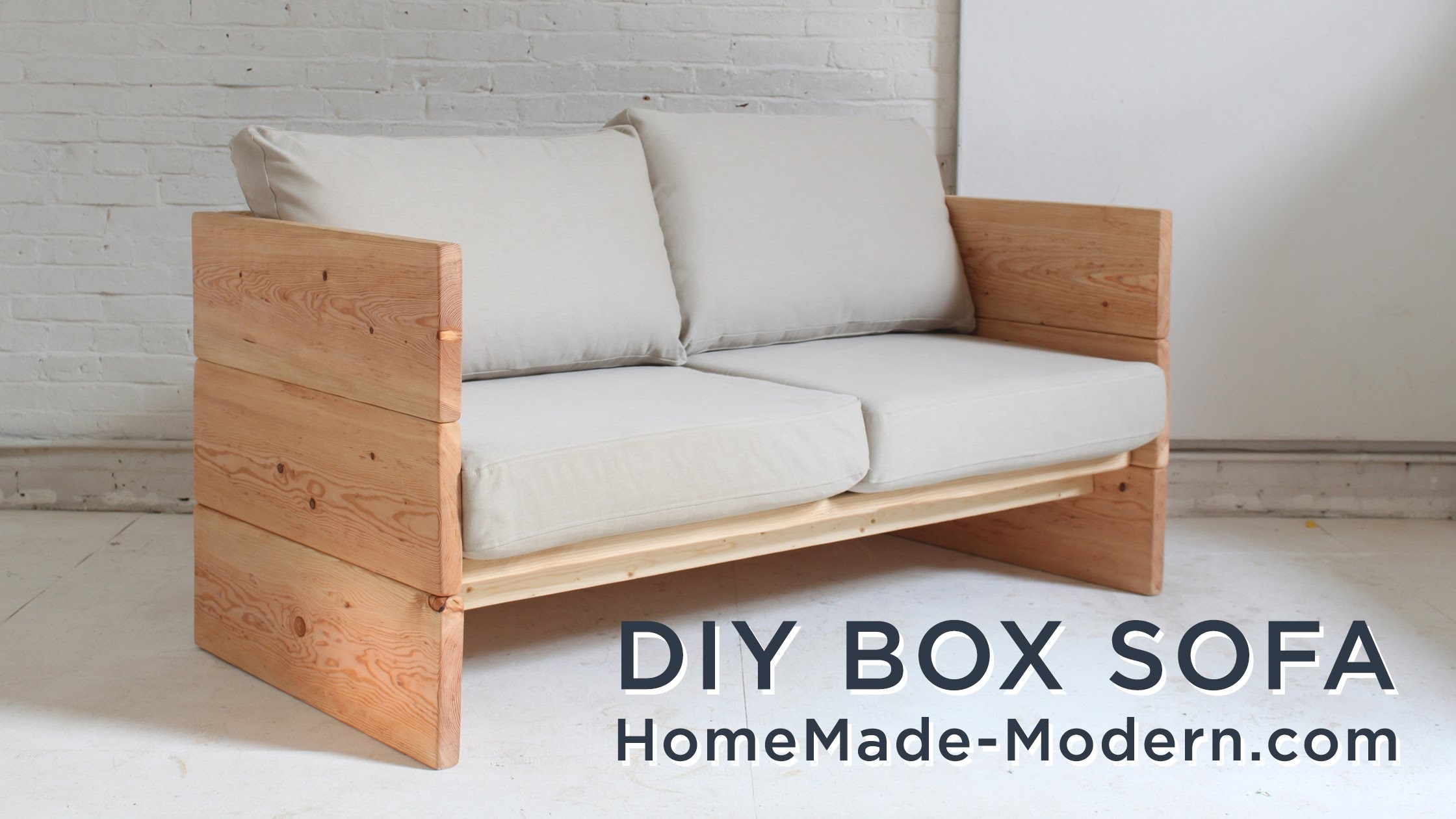 Diy Sofa Made Out Of 2x10s Youtube With Diy Sofa Frame (View 5 of 12)