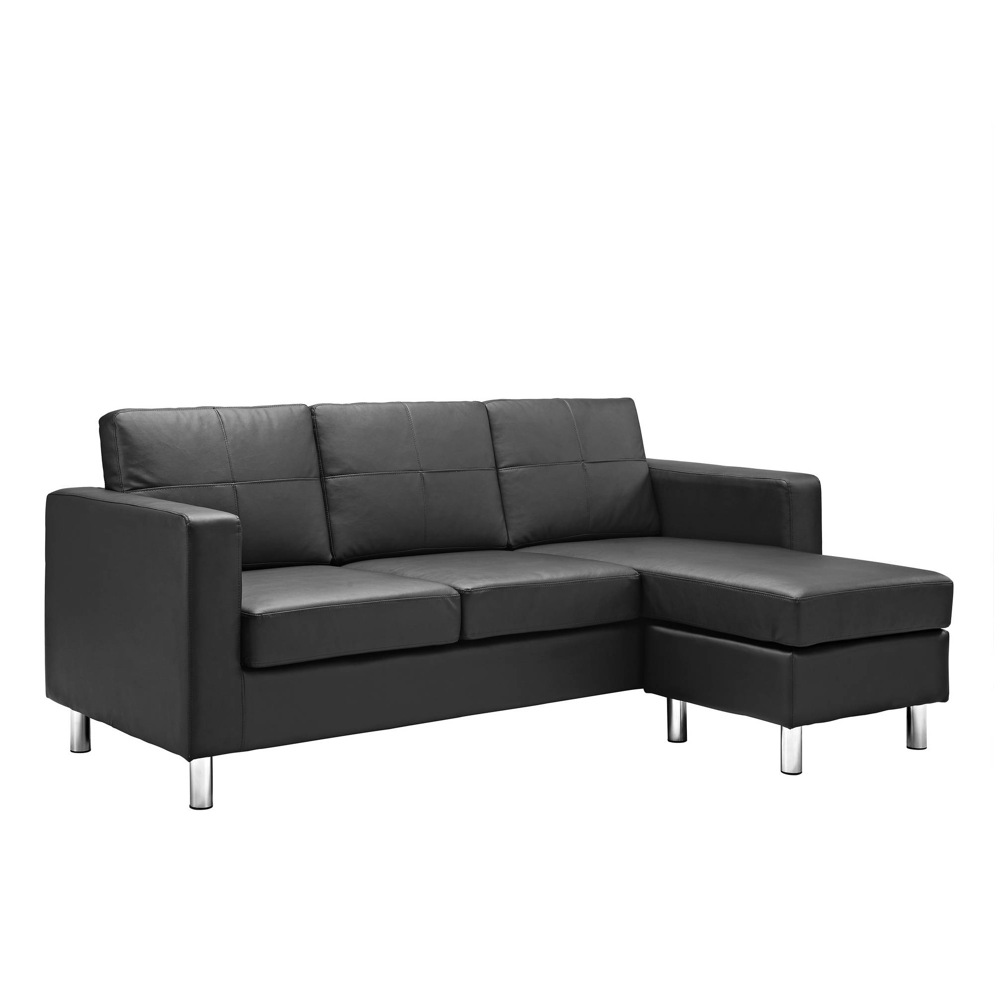 Dorel Living Small Spaces Configurable Sectional Sofa Multiple For Compact Sectional Sofas (#4 of 12)