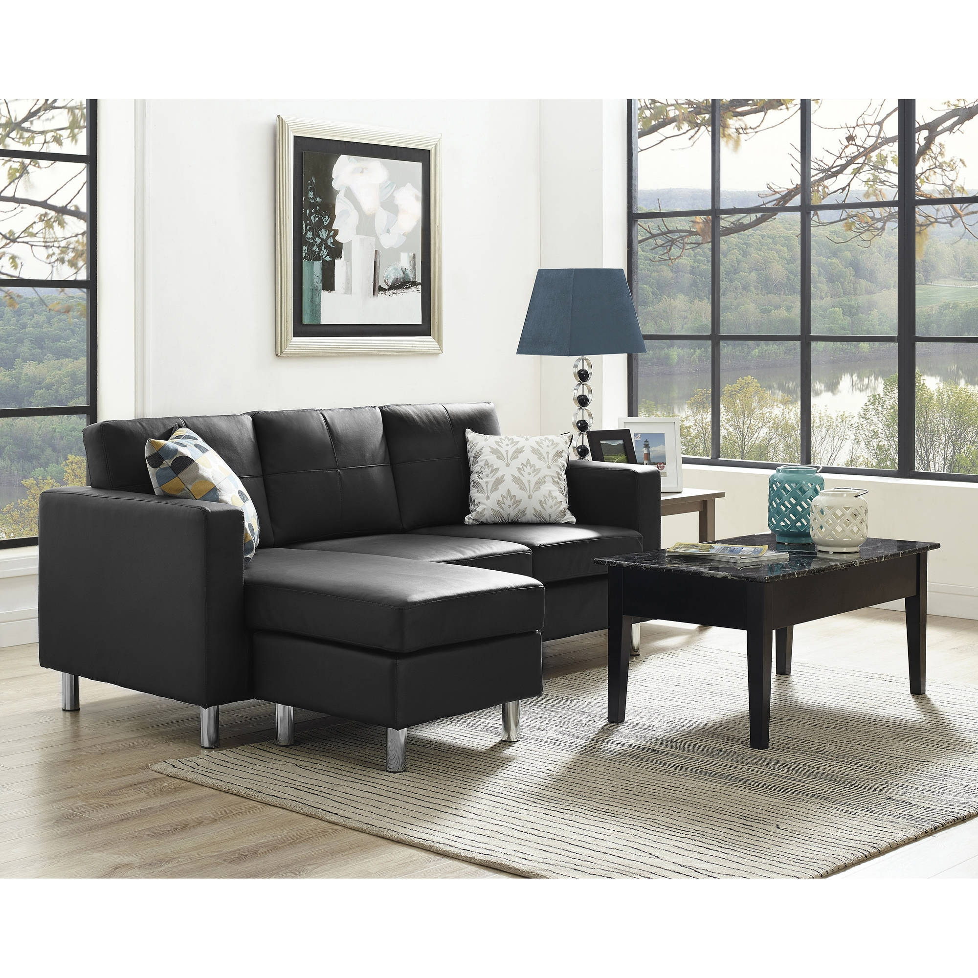 Dorel Living Small Spaces Configurable Sectional Sofa Multiple For Condo Sectional Sofas (#5 of 12)