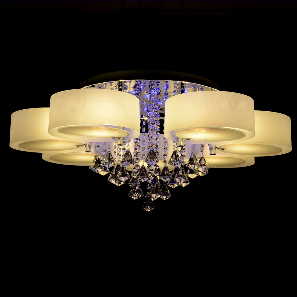 Ecolight Rgb Modern Chandelier Crystal With Remote Control 7 Intended For Modern Led Chandelier (#3 of 12)