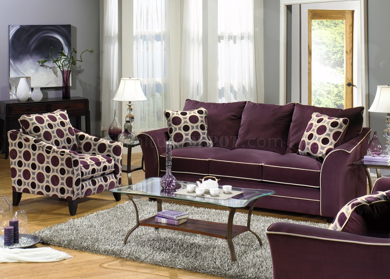 Eggplant Sectional Sofa Cleanupflorida With Eggplant Sectional Sofa (#6 of 12)