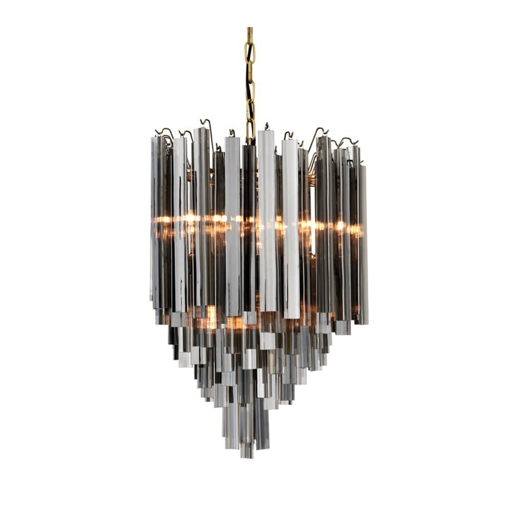 Popular Photo of Smoked Glass Chandelier