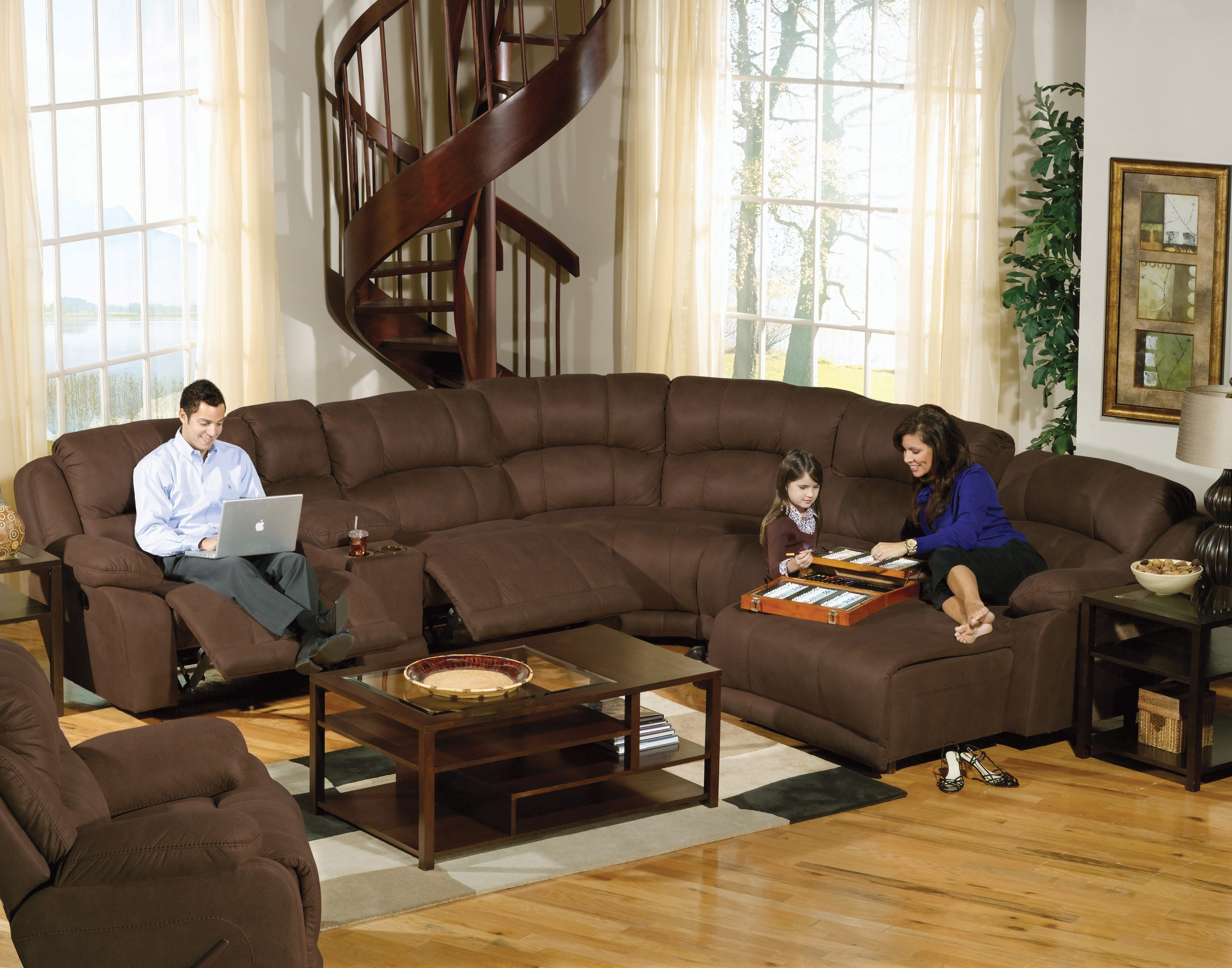 Elegant Large Sectional Sofas With Recliners 94 In Curved Pertaining To Curved Sectional Sofa With Recliner (#8 of 12)