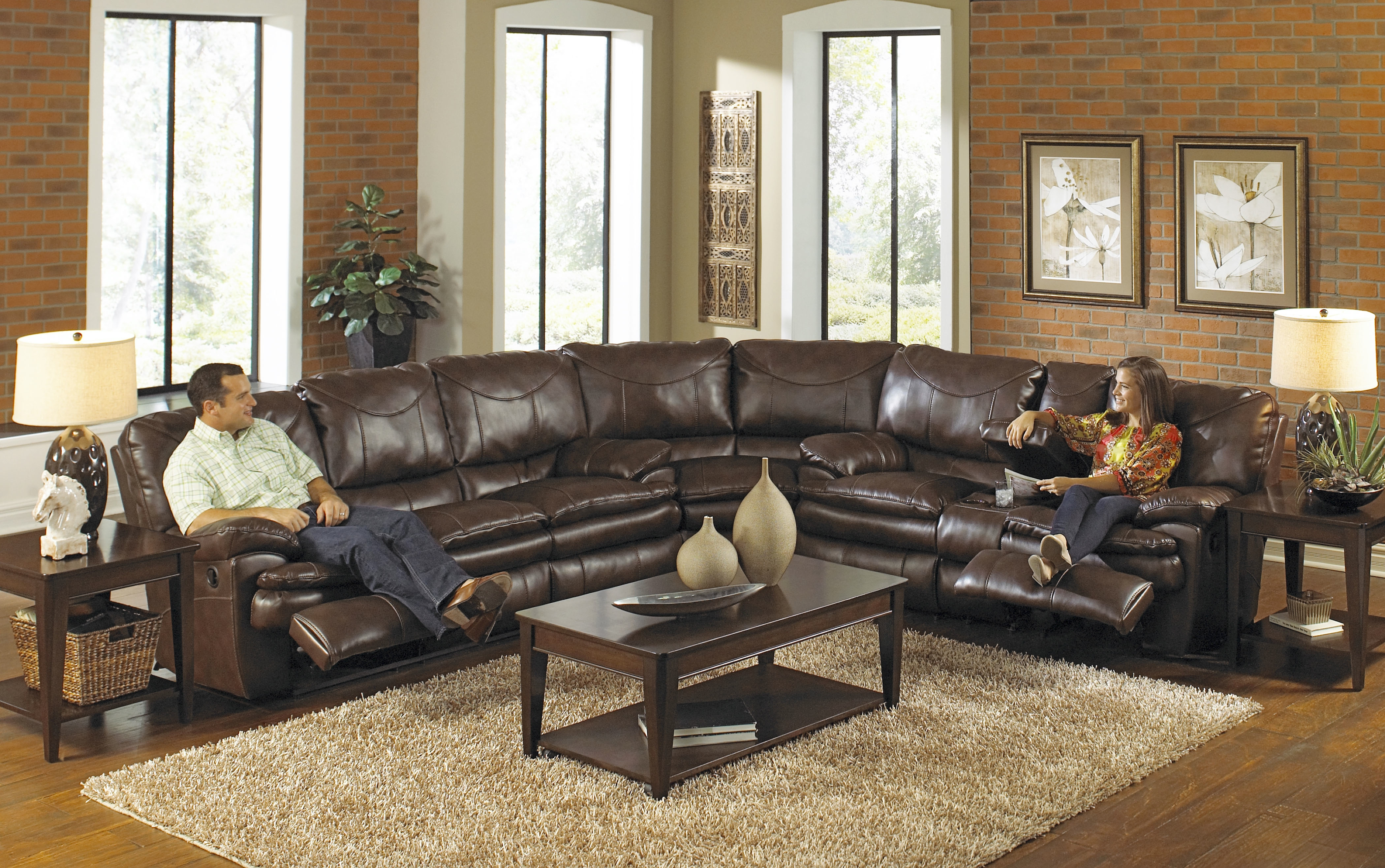 Elegant Large Sectional Sofas With Recliners 94 In Curved With Curved Sectional Sofa With Recliner (#9 of 12)