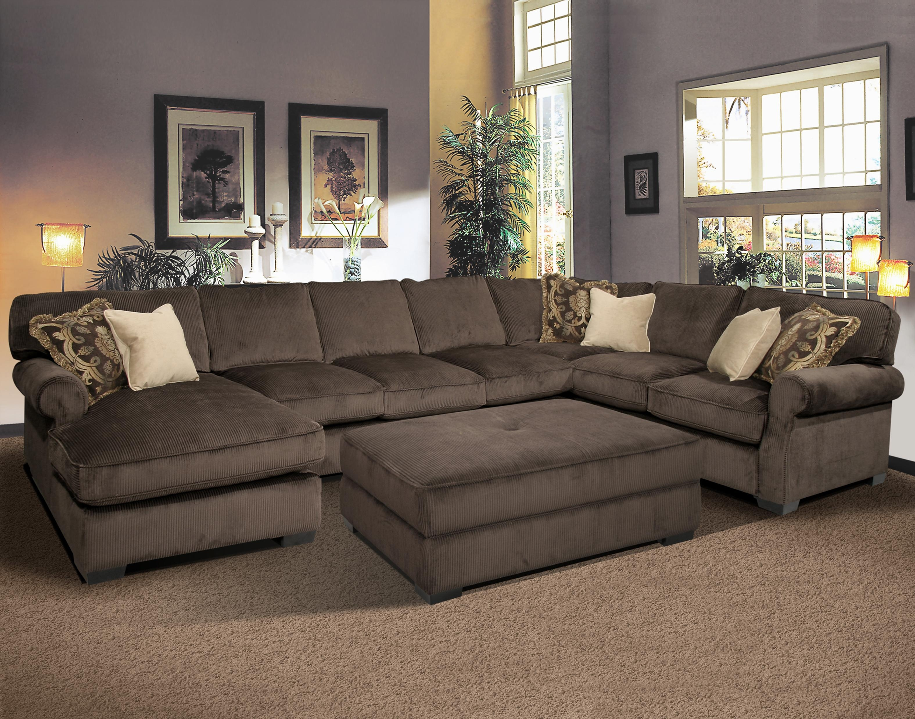 Elegant Large U Shaped Sectional Sofas 14 On Lime Green Sectional With Regard To Elegant Sectional Sofas (#4 of 12)