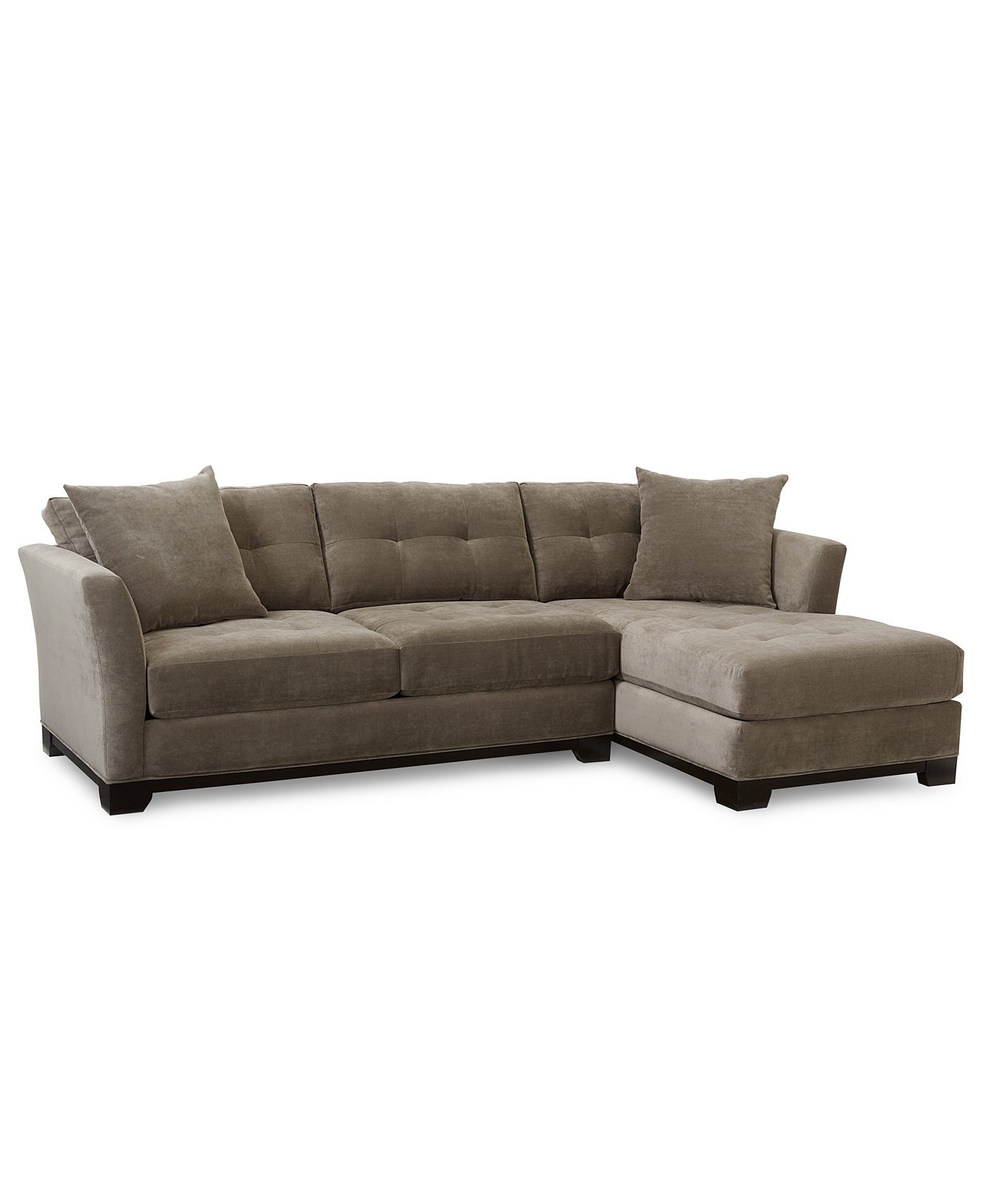 Elliot Fabric Microfiber 2 Pc Chaise Sectional Sofa Sectional Inside Elliott Sofa (#8 of 12)